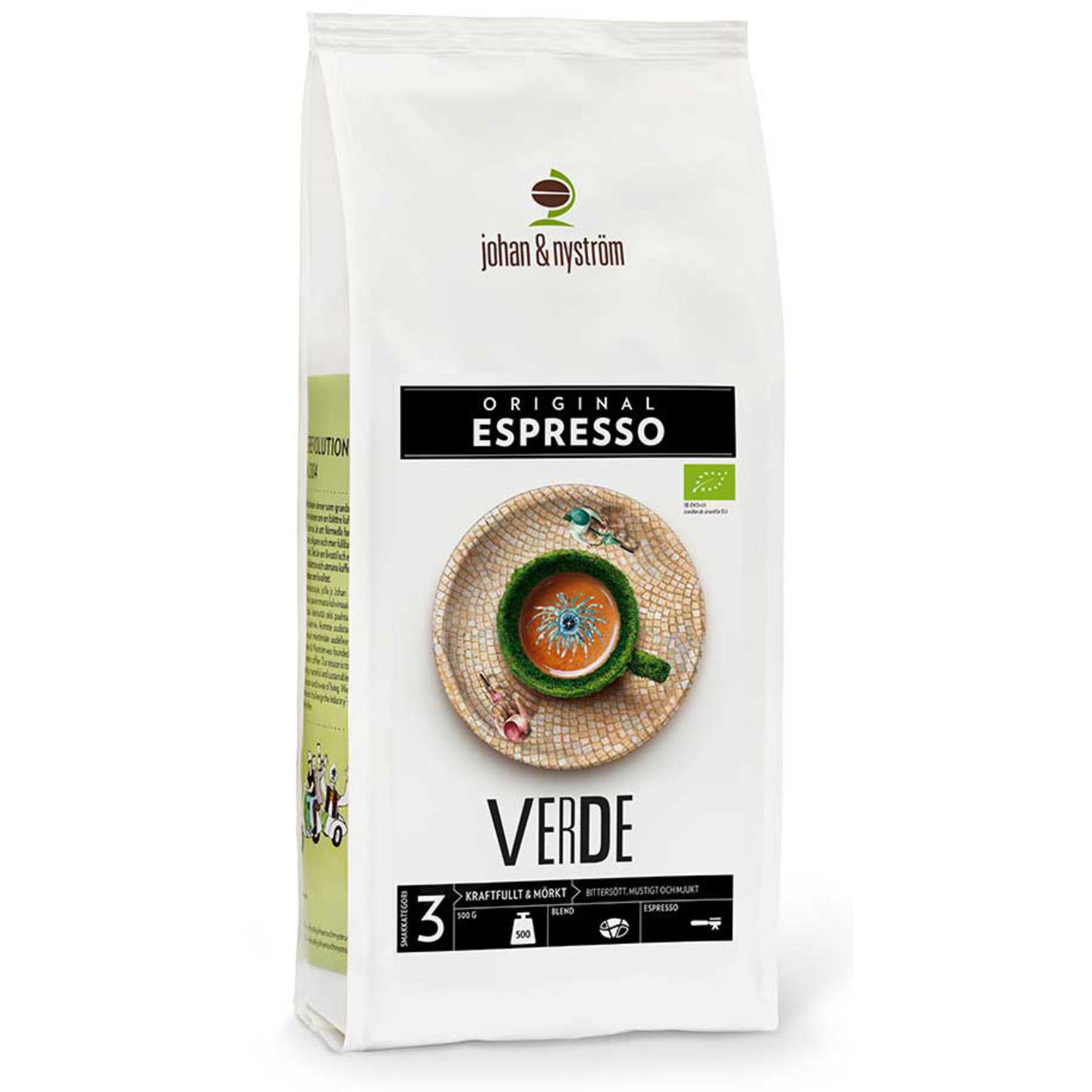 Johan & Nyström Espresso Verde Ekologiskt 500g
