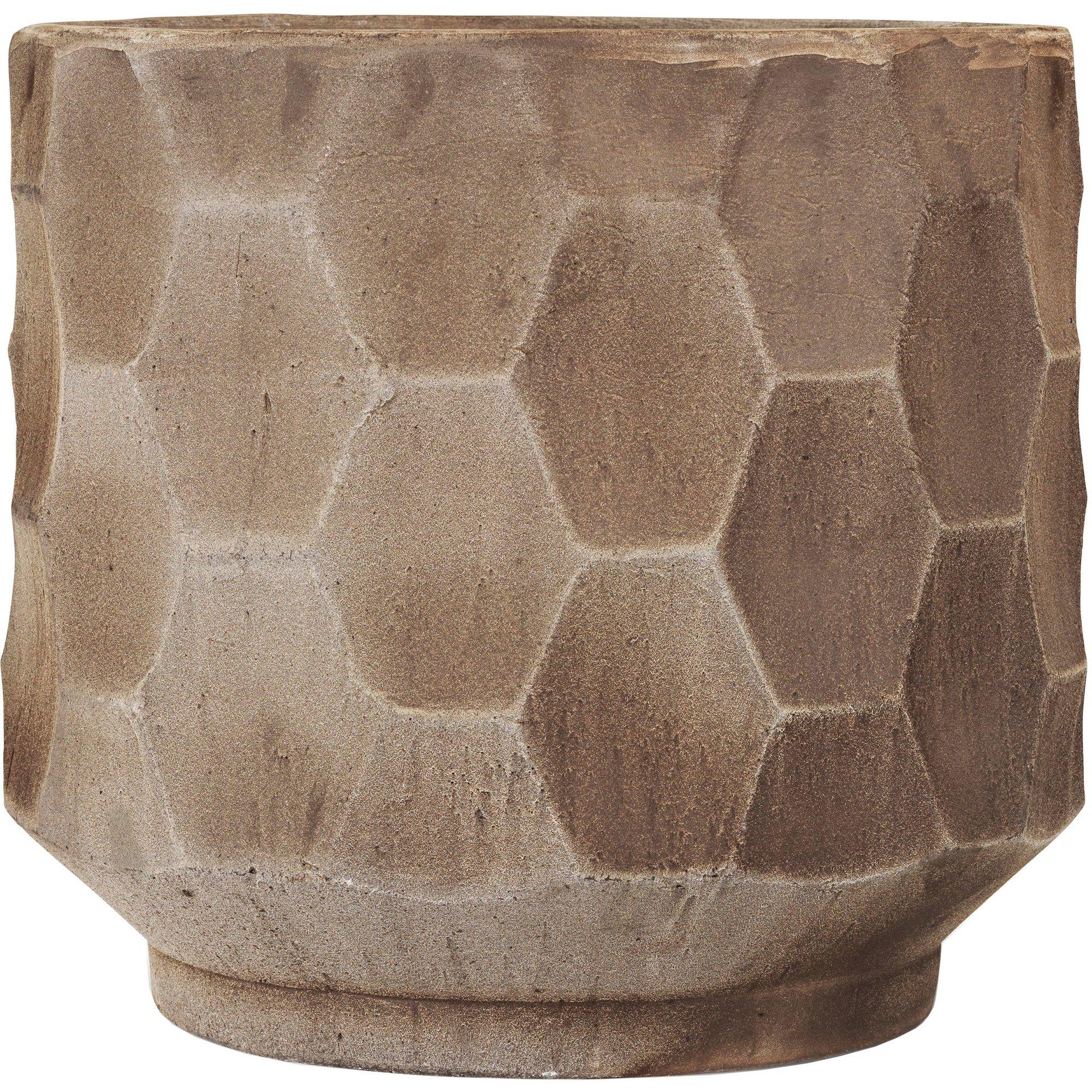 Kähler Gro kruka med fat Ø 43 cm Ljus sand