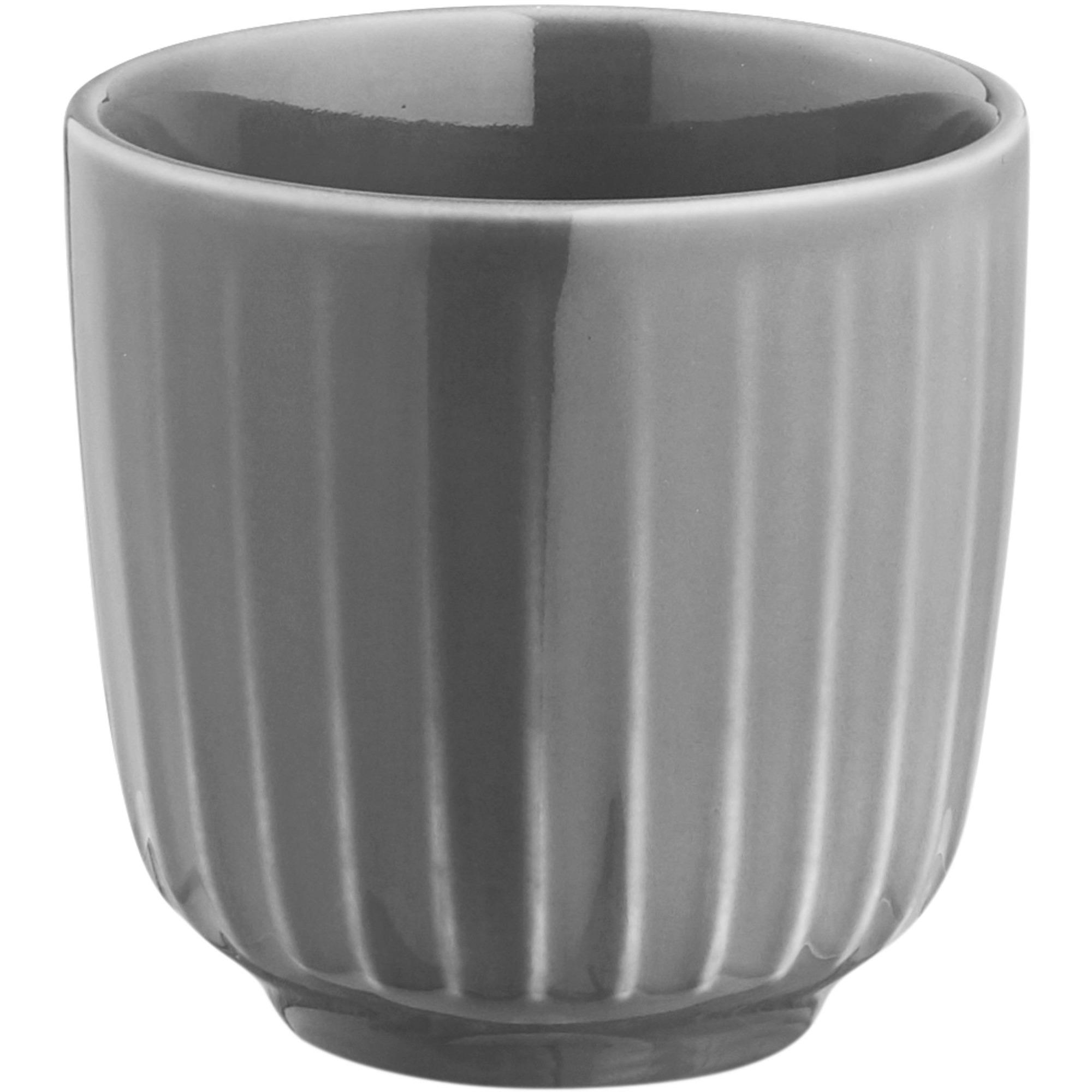 Kähler Hammersøi Espressokopp 10 cl Mörkgrå