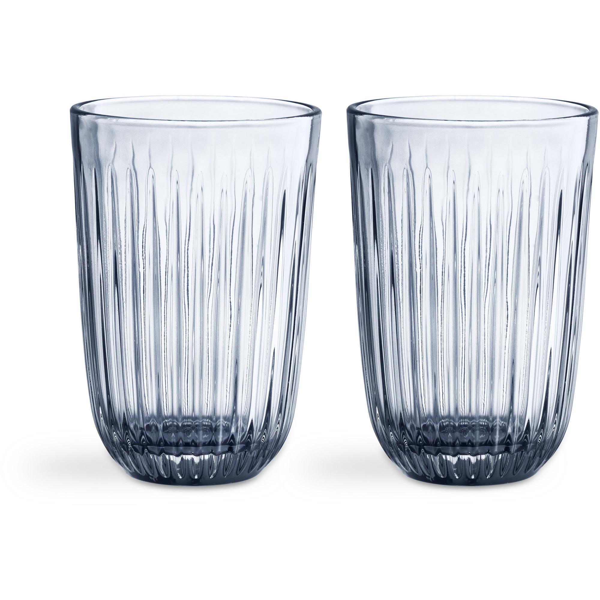 Kähler Hammershøi Glas 33 cl 2-pack Indigo
