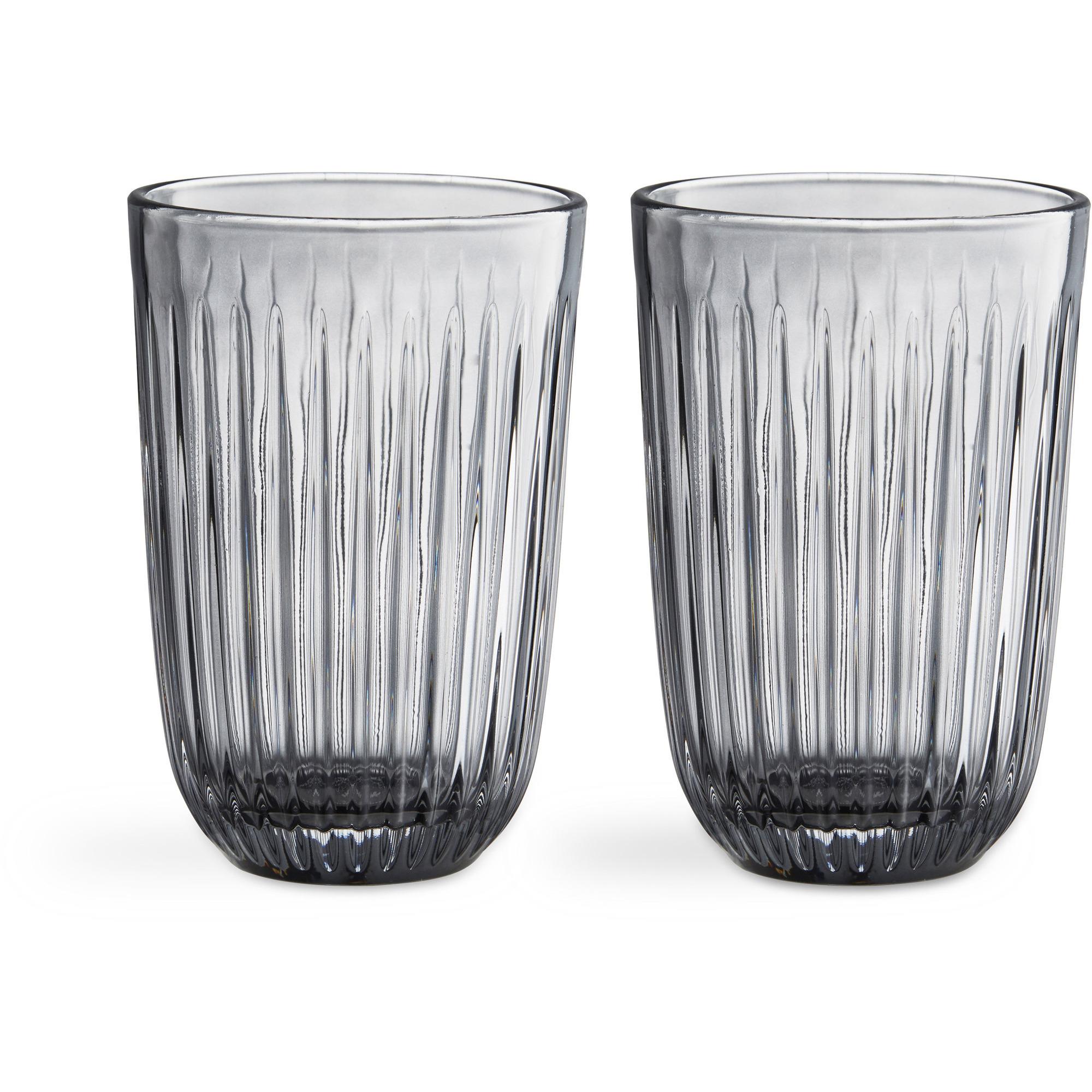 Kähler Hammershøi Glas 33cl 2-pack Grå
