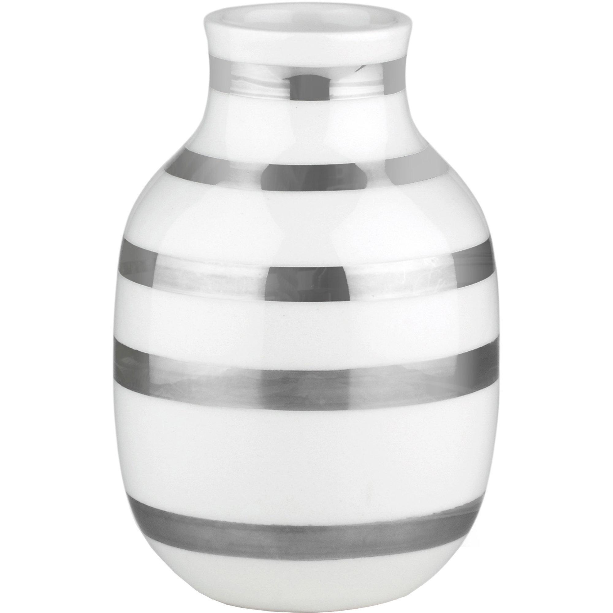Kähler Omaggio Vas 125 mm Silver