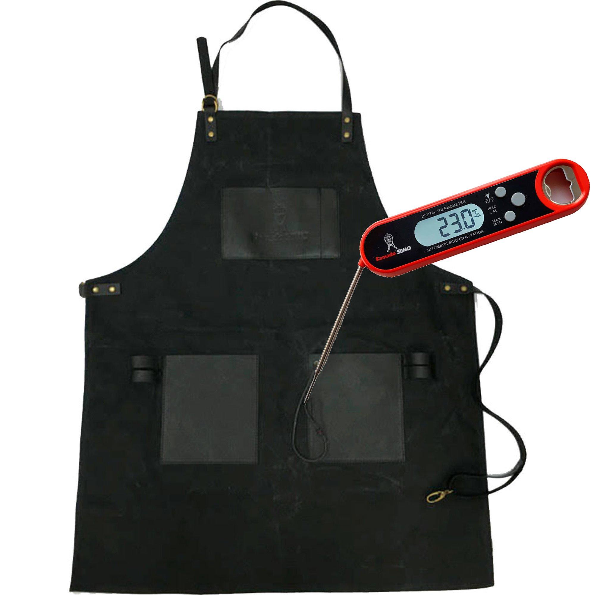 Kamado Sumo Förkläde och Grilltermometer