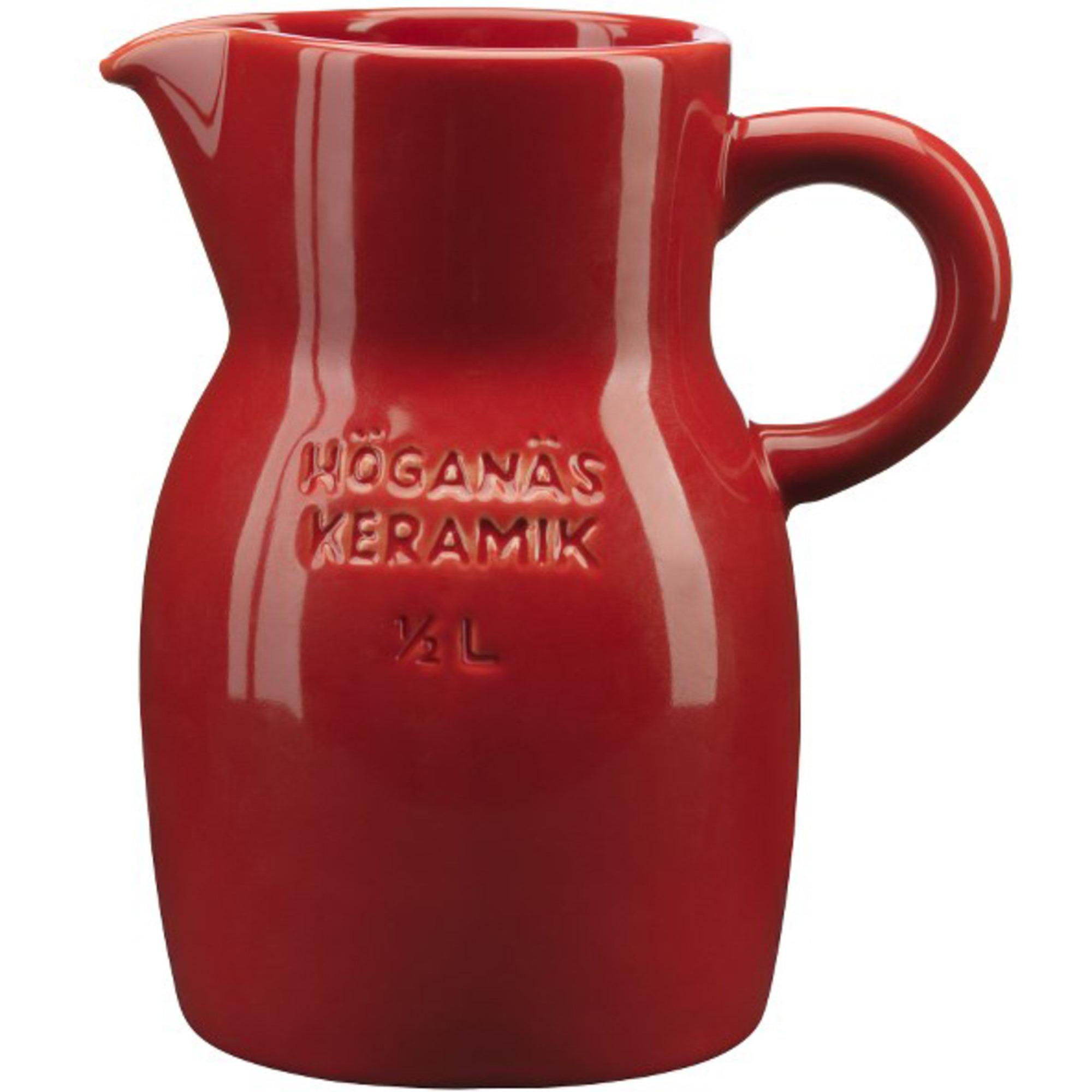 Höganäs Keramik Kanna 50 cl Äppelröd blank