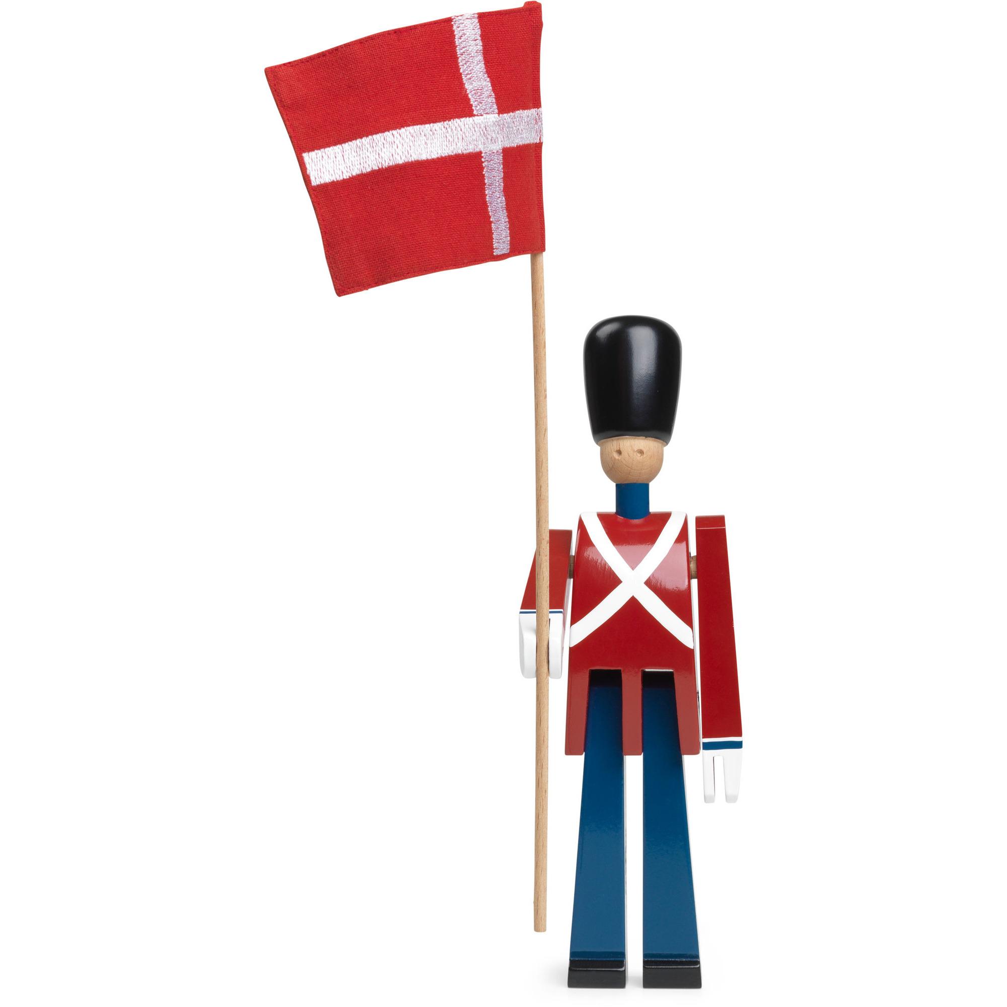 Kay Bojesen Fanbärare med Textilflagga