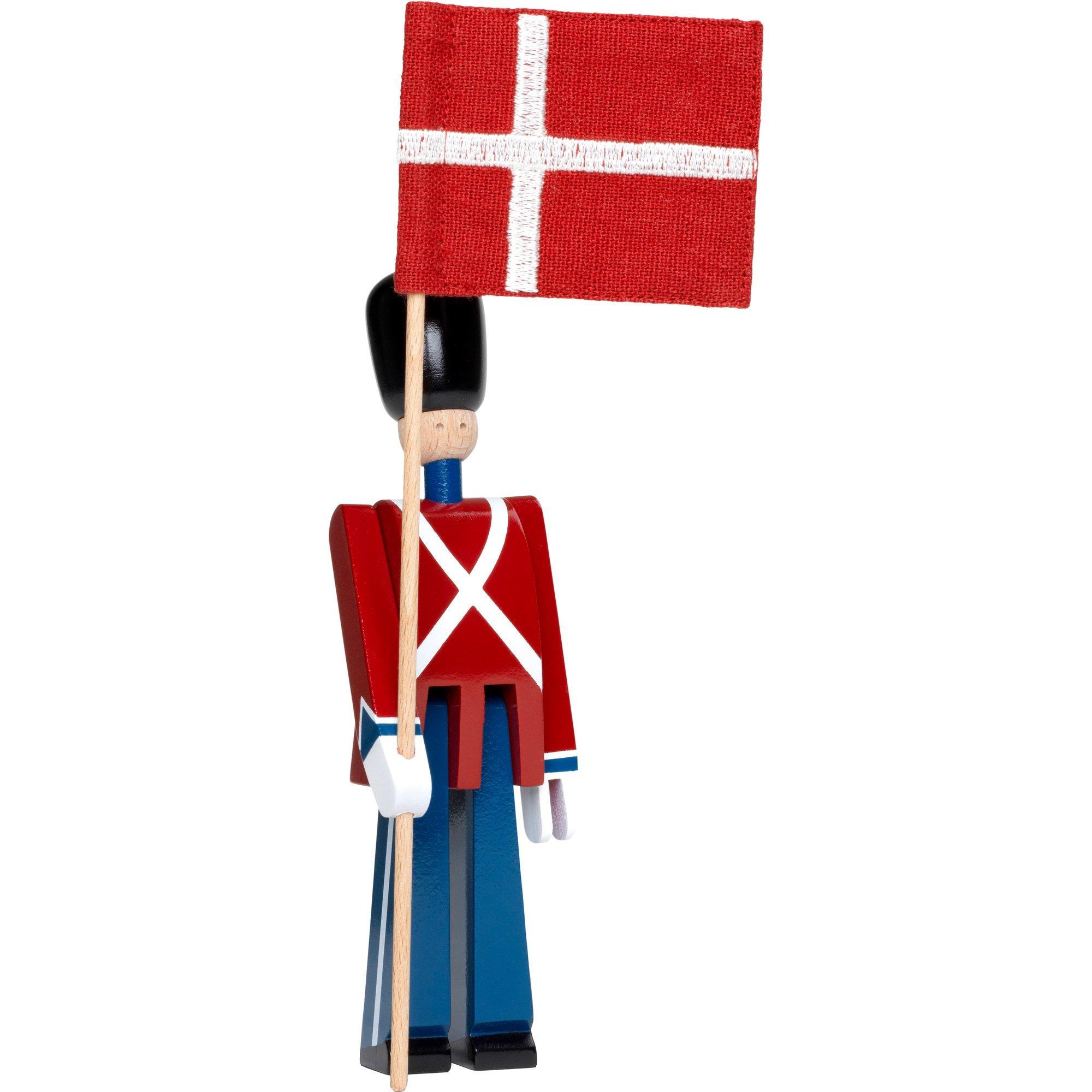 Kay Bojesen Flaggbärare med textilflagga mini