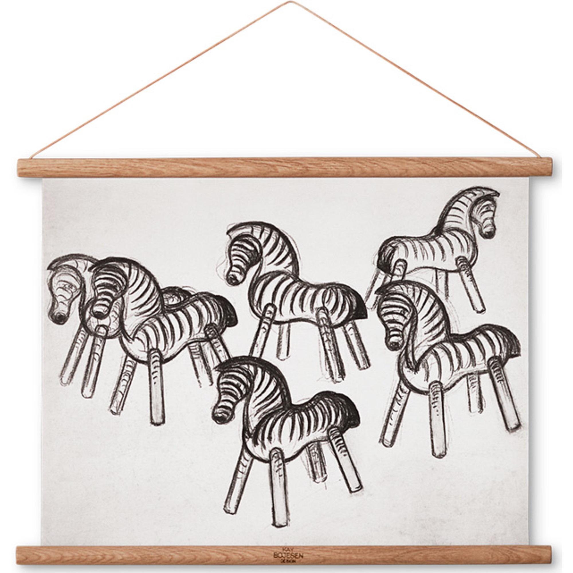Kay Bojesen Zebra ritning 40 x 30 cm.