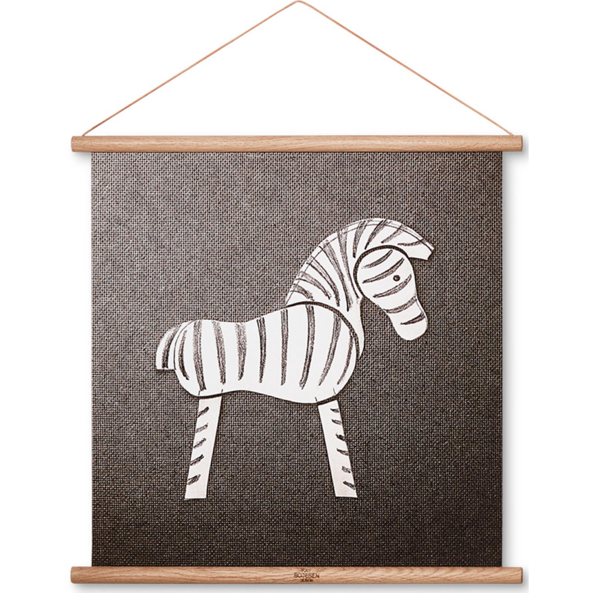 Kay Bojesen Zebra ritning 40 x 40 cm.