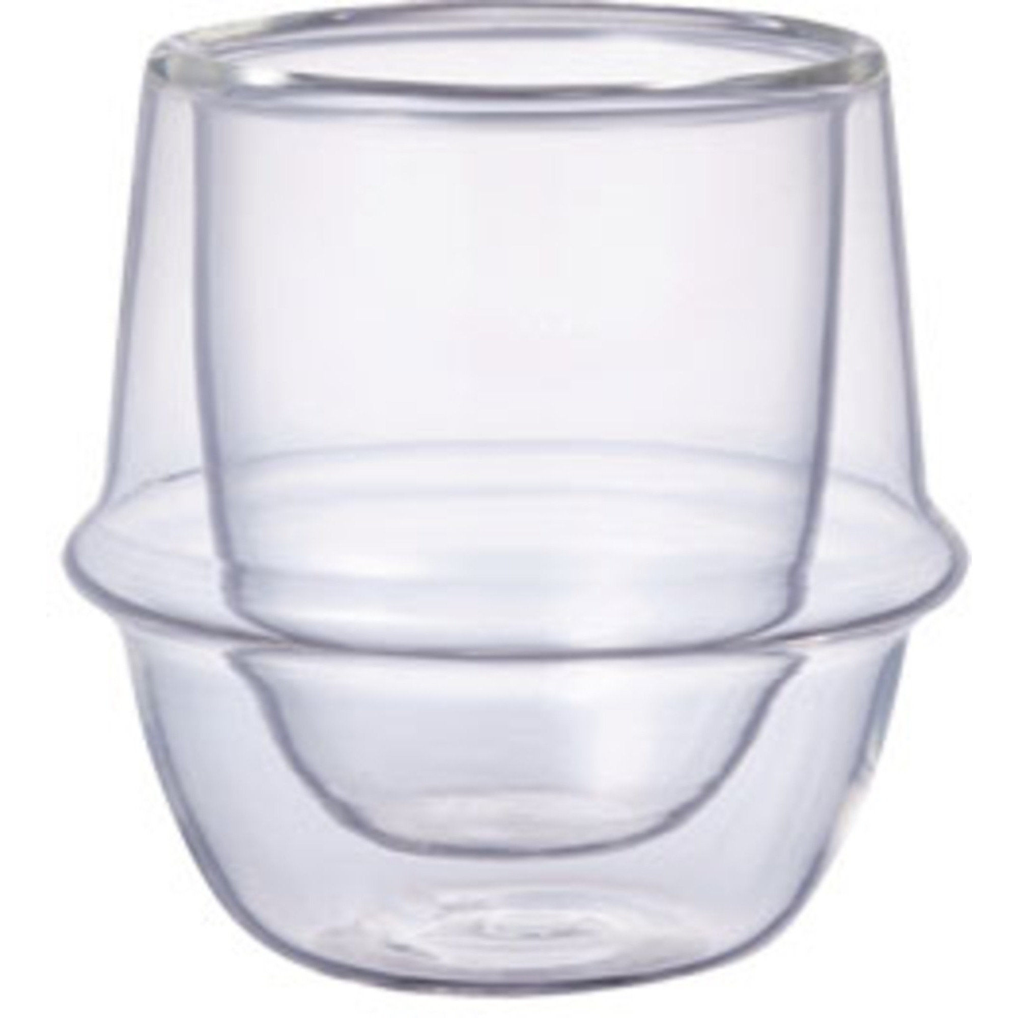 Kinto KRONOS Dubbelväggat espresso glas 80ml