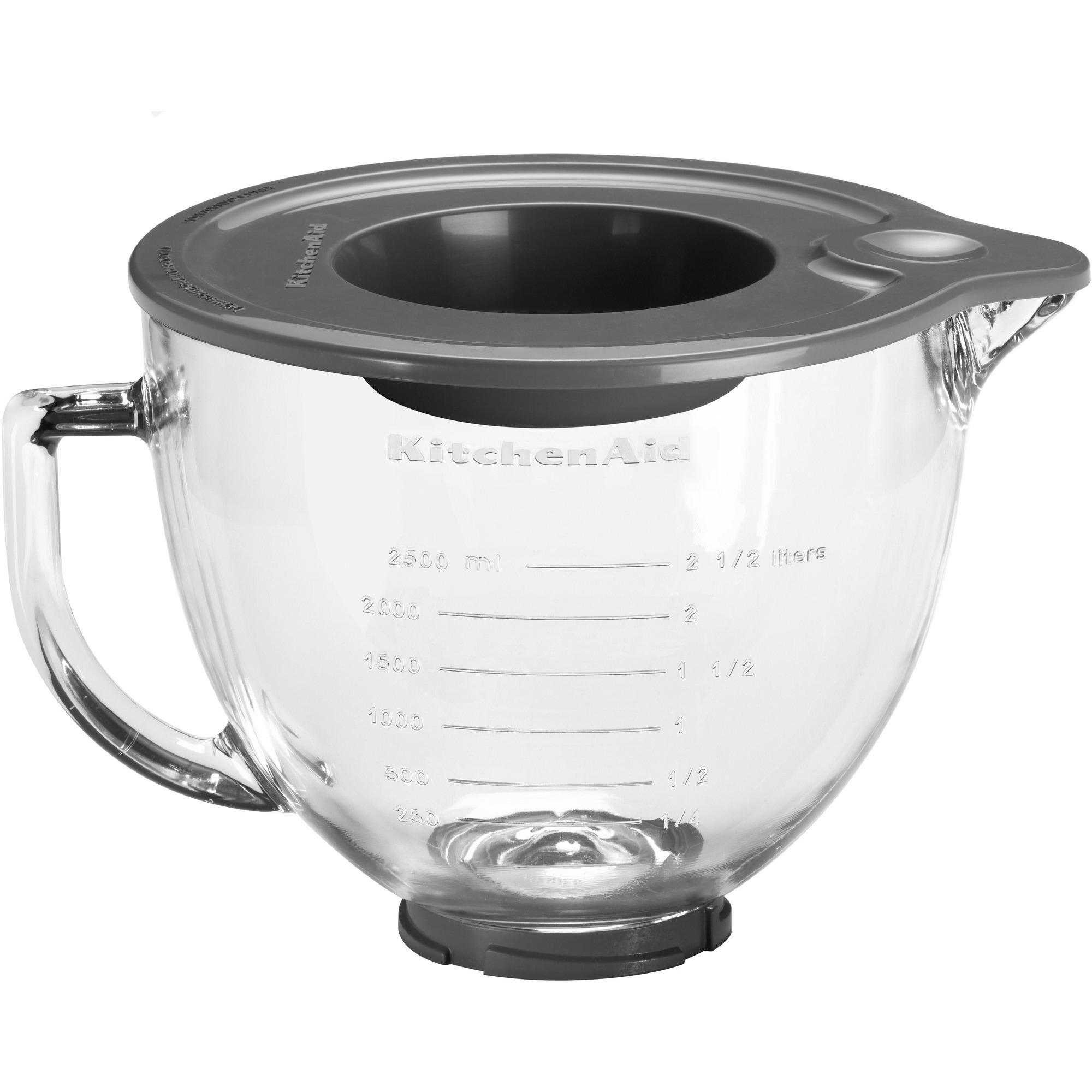 KitchenAid Skål i Glas 483 Liter med Silikonlock – 5KGB