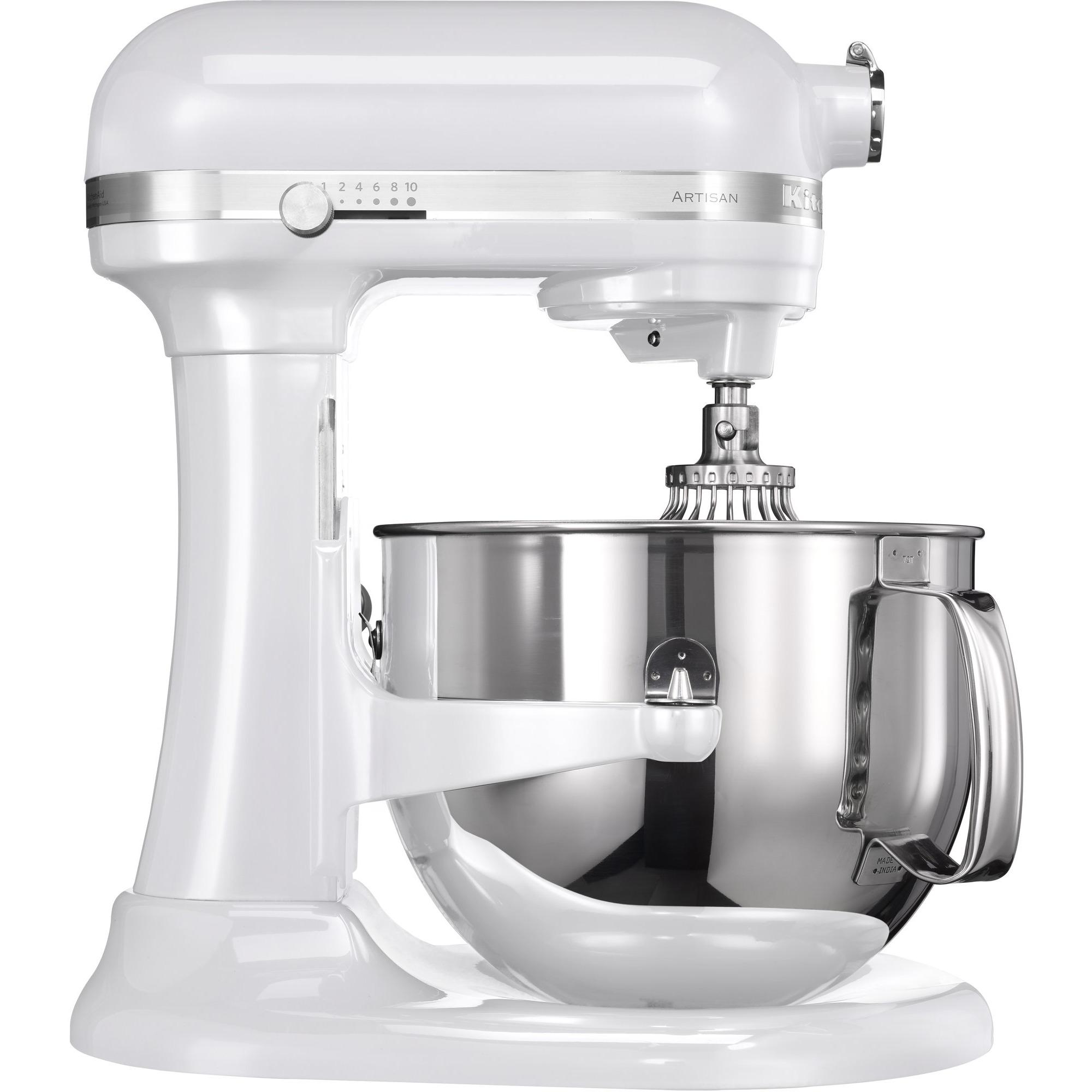 KitchenAid Artisan 7580EFP Lyftarm 69 liter Frost Vit