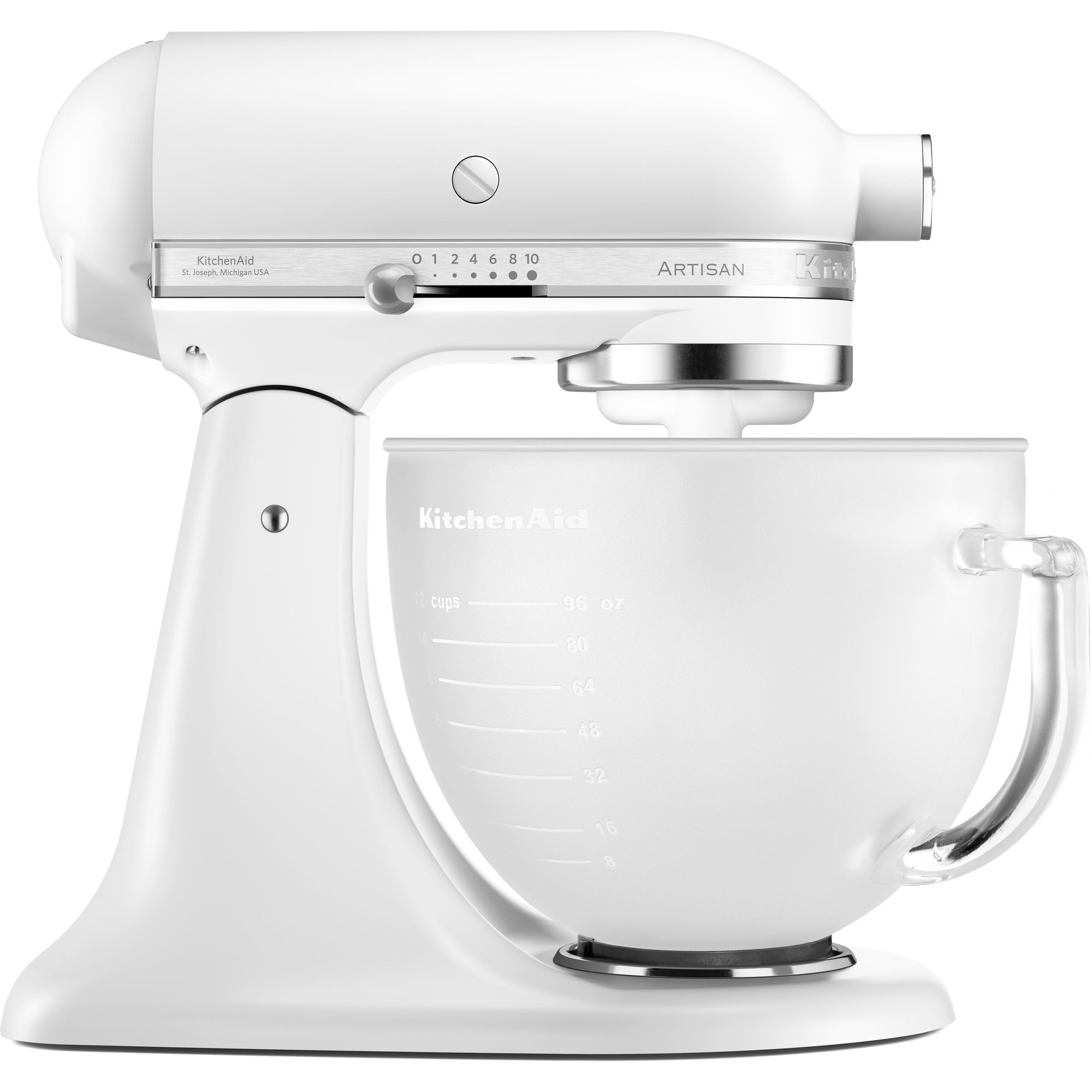 KitchenAid Artisan KSM156PSEFP köksmaskin vit + matt skål
