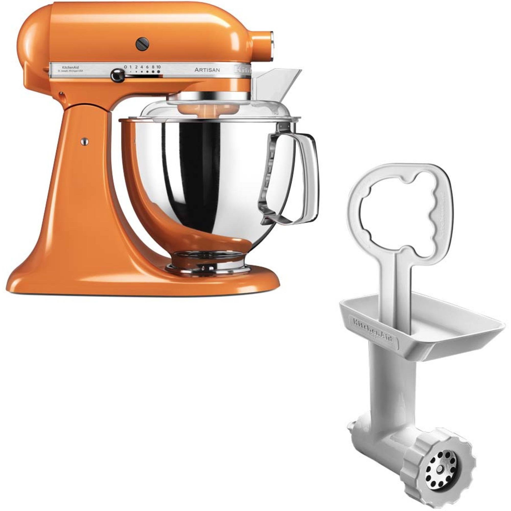 KitchenAid Artisan 175 Tangerine + Köttkvarn FGA