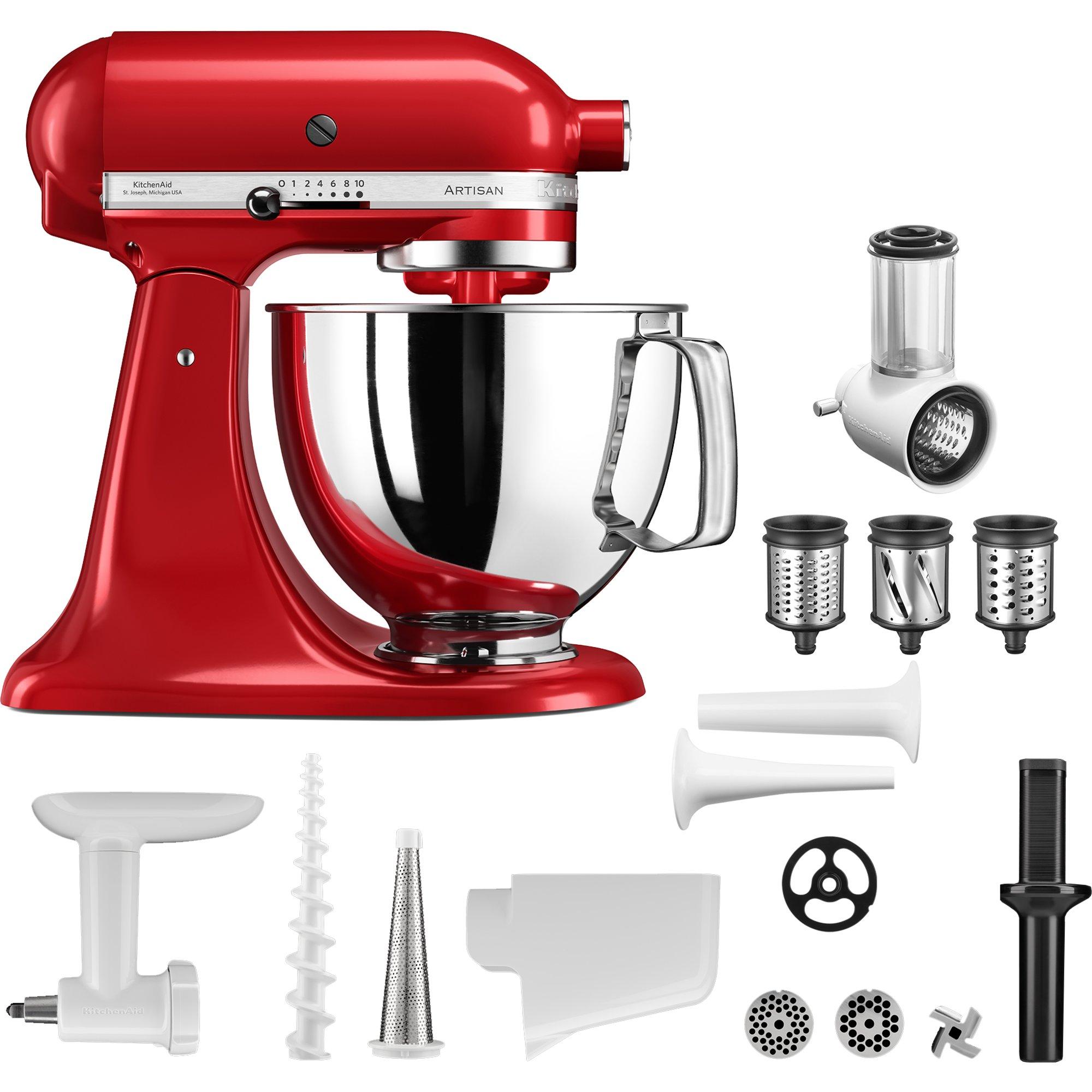 Bild av KitchenAid Artisan Köksmaskin (röd) + tillbehörspaket