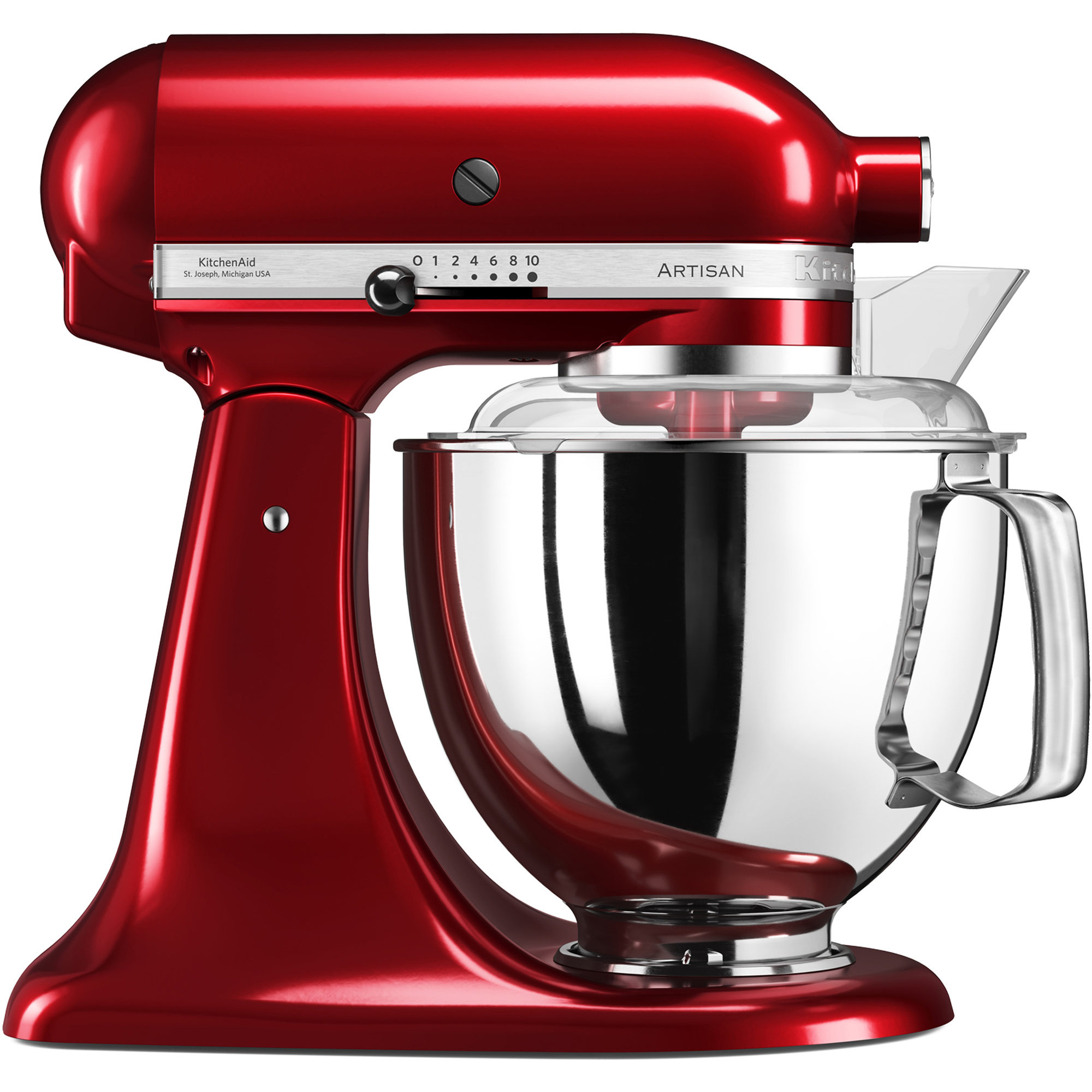 KitchenAid Artisan KSM175PSECA Röd Metallic