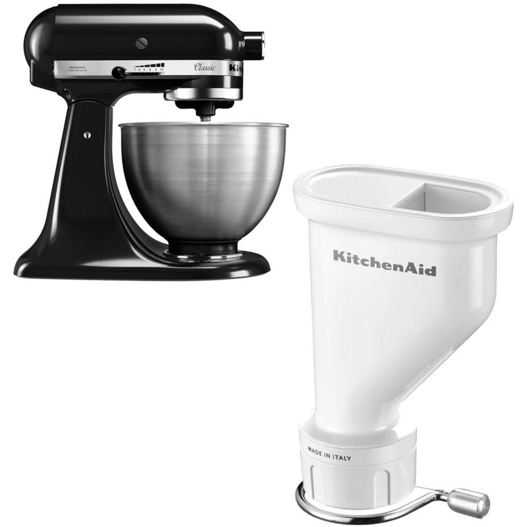 KitchenAid Classic Köksmaskin Svart + Pastapress