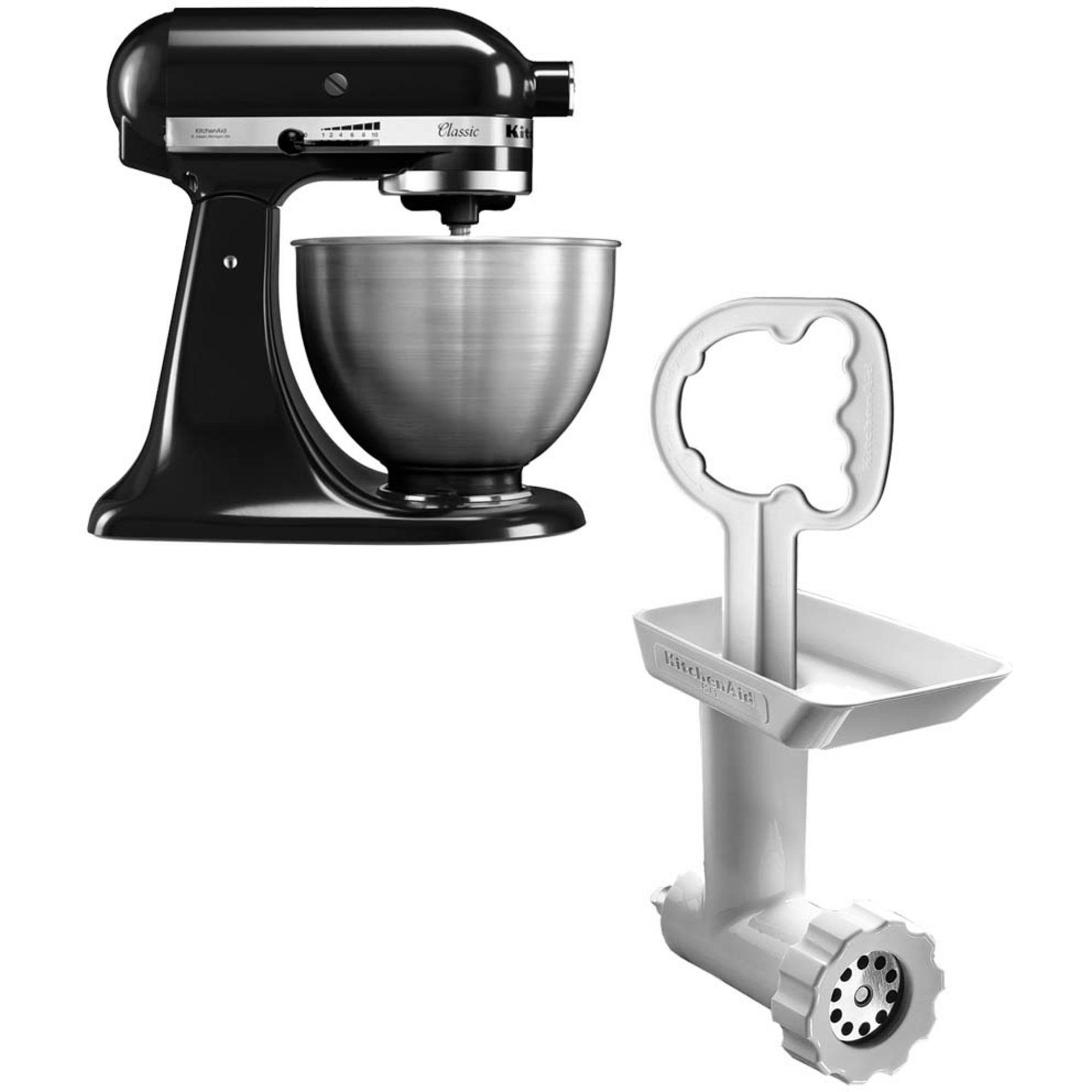 KitchenAid Classic Köksmaskin Svart + Köttkvarn