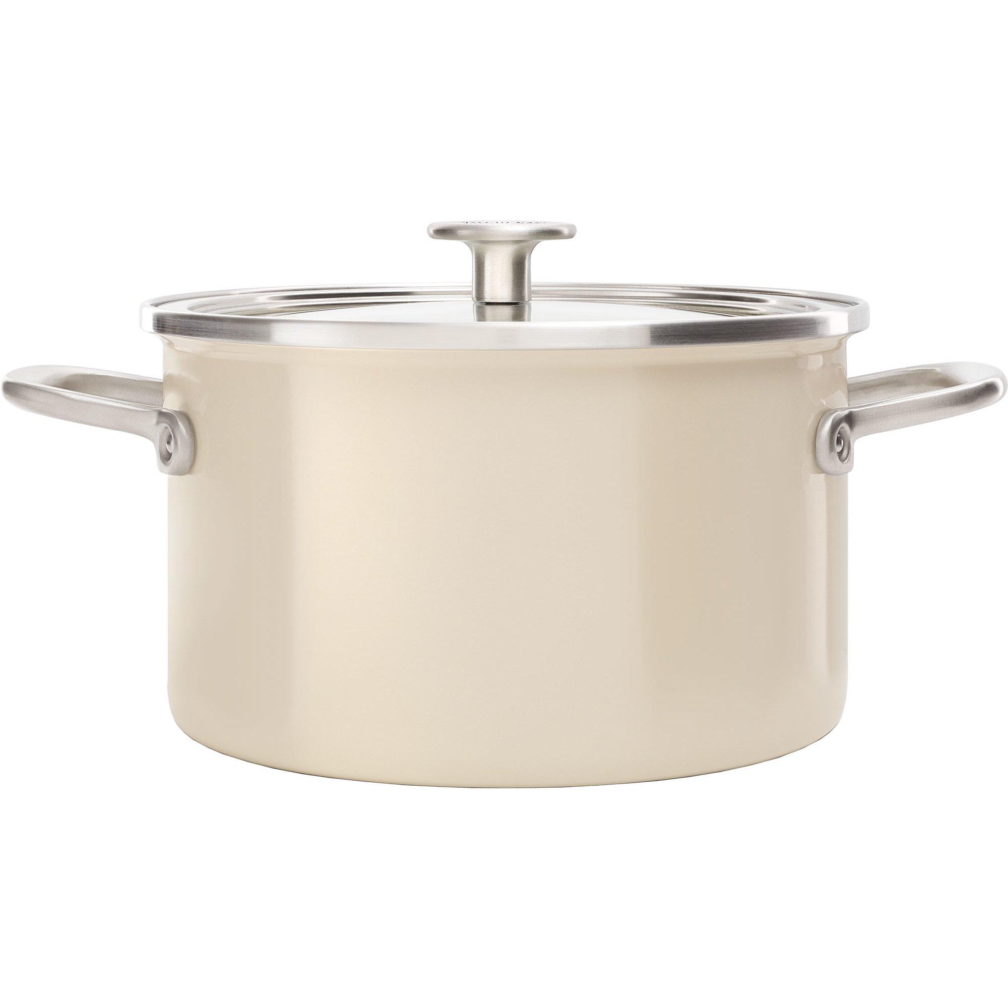 KitchenAid Cookware Collection Gryta m/lock 20 cm mandel