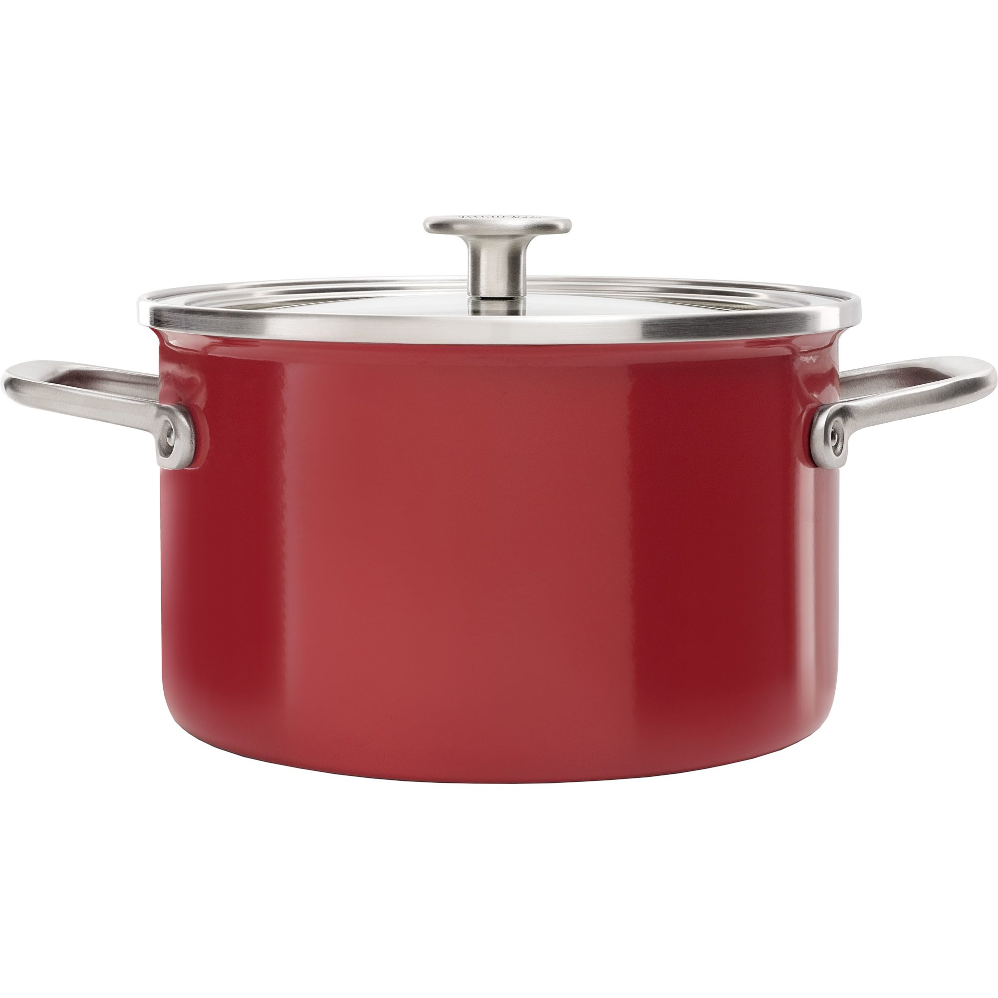 KitchenAid Cookware Collection Gryta m/lock 20 cm röd