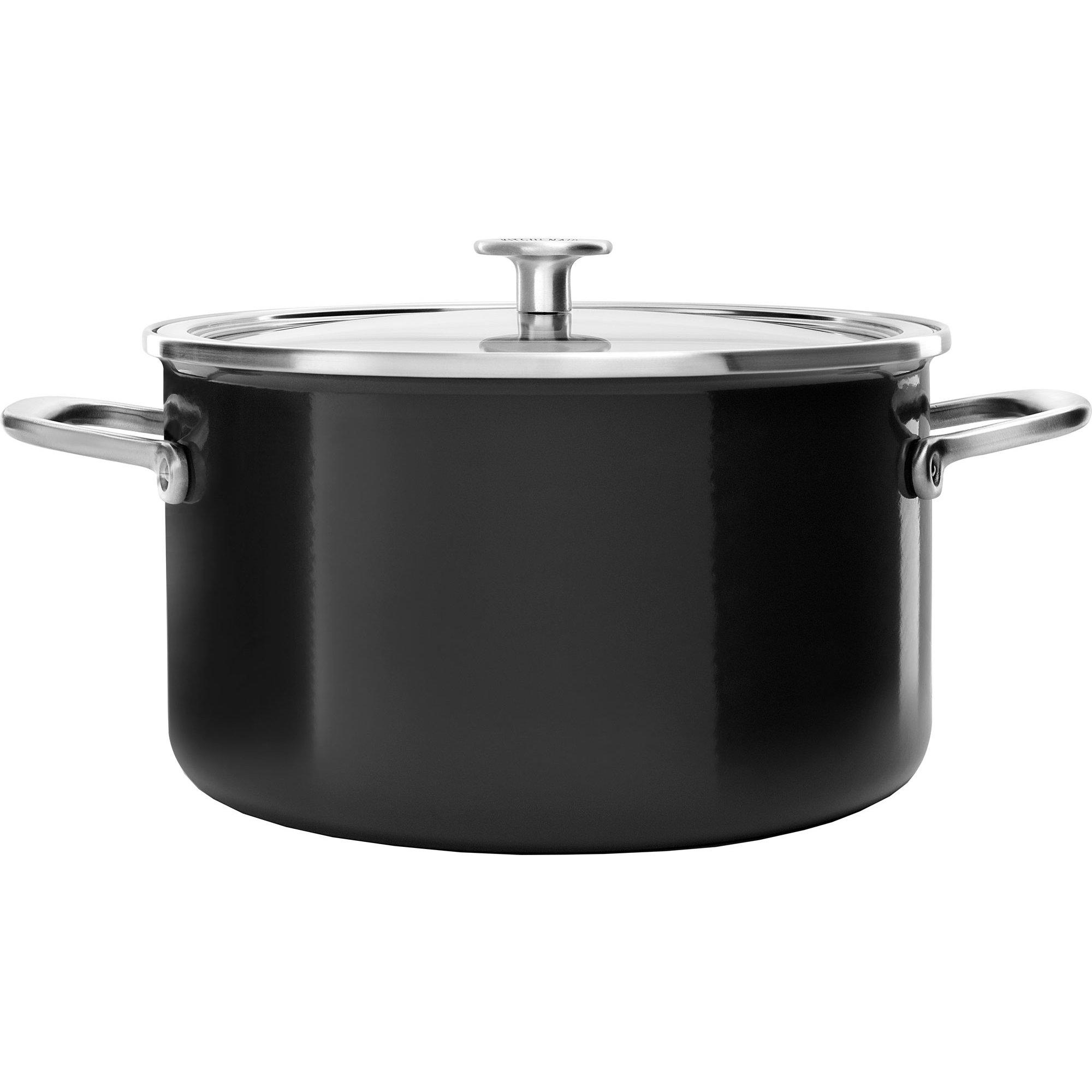 KitchenAid Cookware Collection Gryta m/lock 24 cm svart