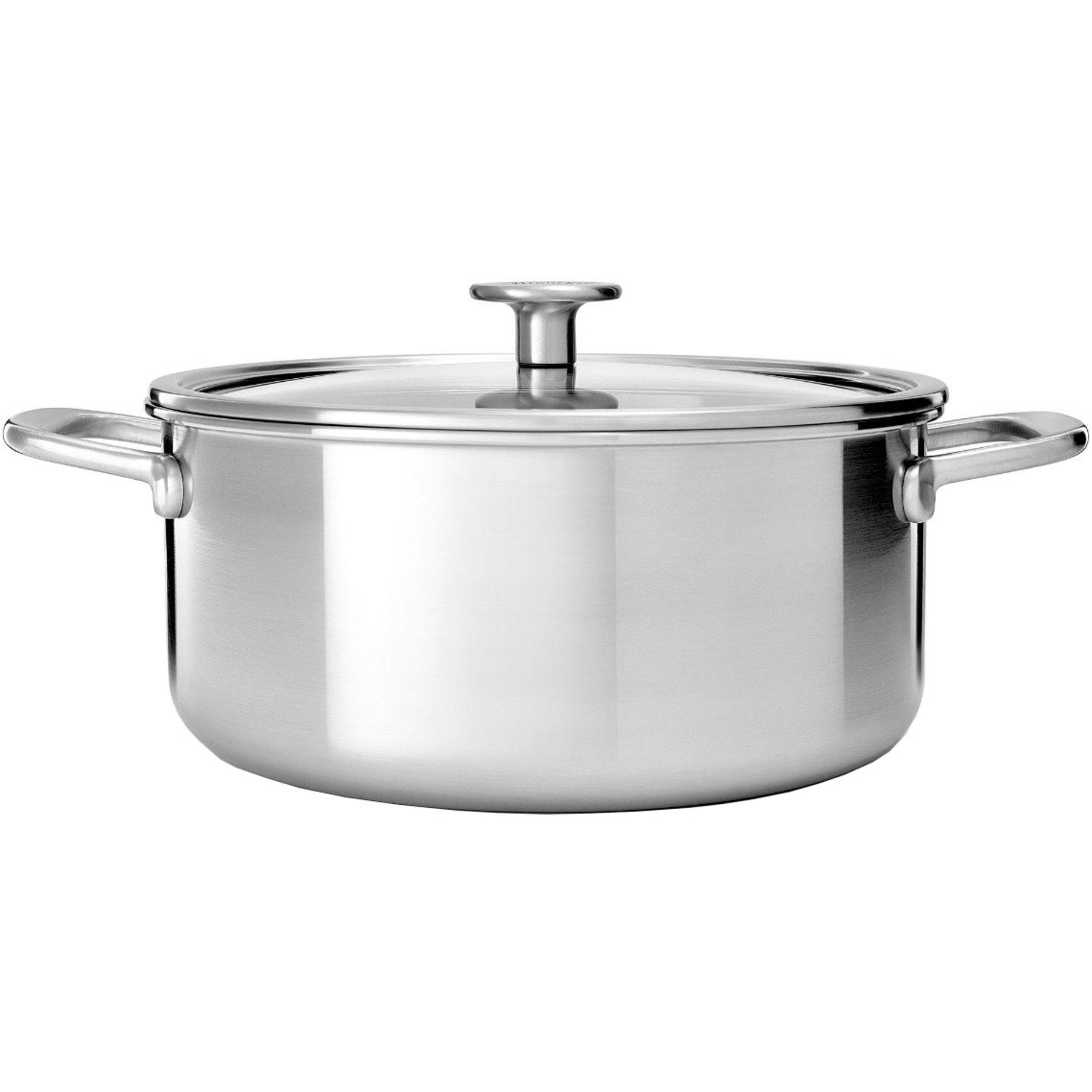 KitchenAid Cookware Collection Gryta m/lock rostfritt stål 24 cm