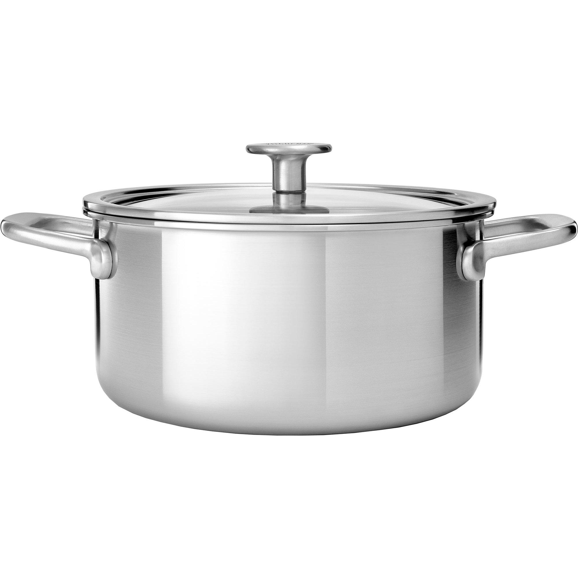 KitchenAid Cookware Collection Gryta m/lock rostfritt stål 20 cm