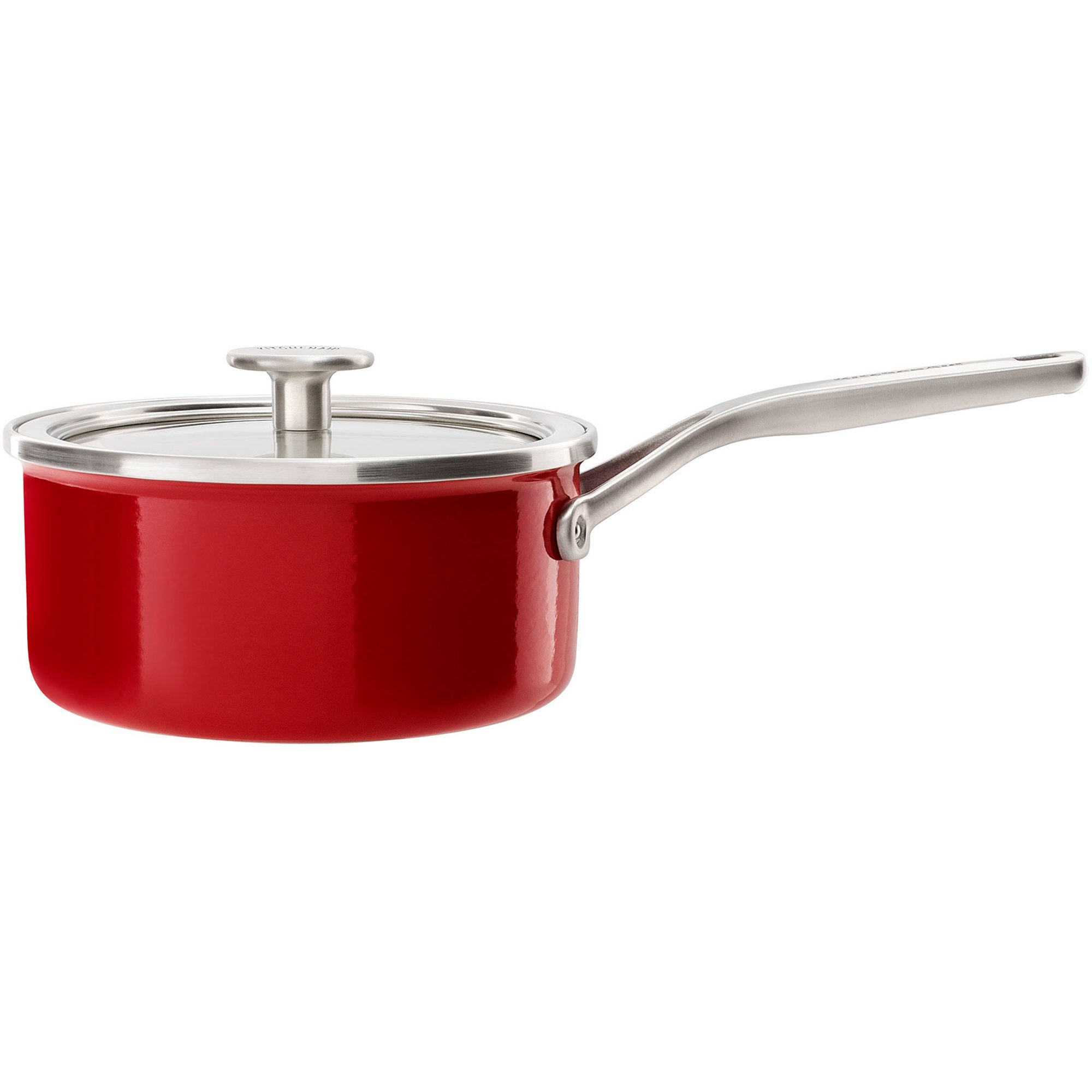 KitchenAid Cookware Collection Kastrull m/lock röd 20 cm.
