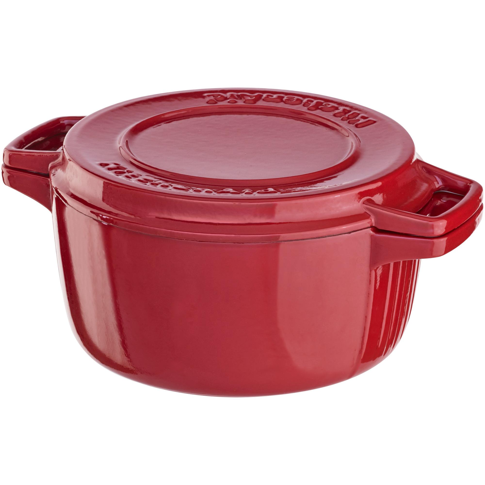 KitchenAid Gjutjärnsgryta 28 cm Röd