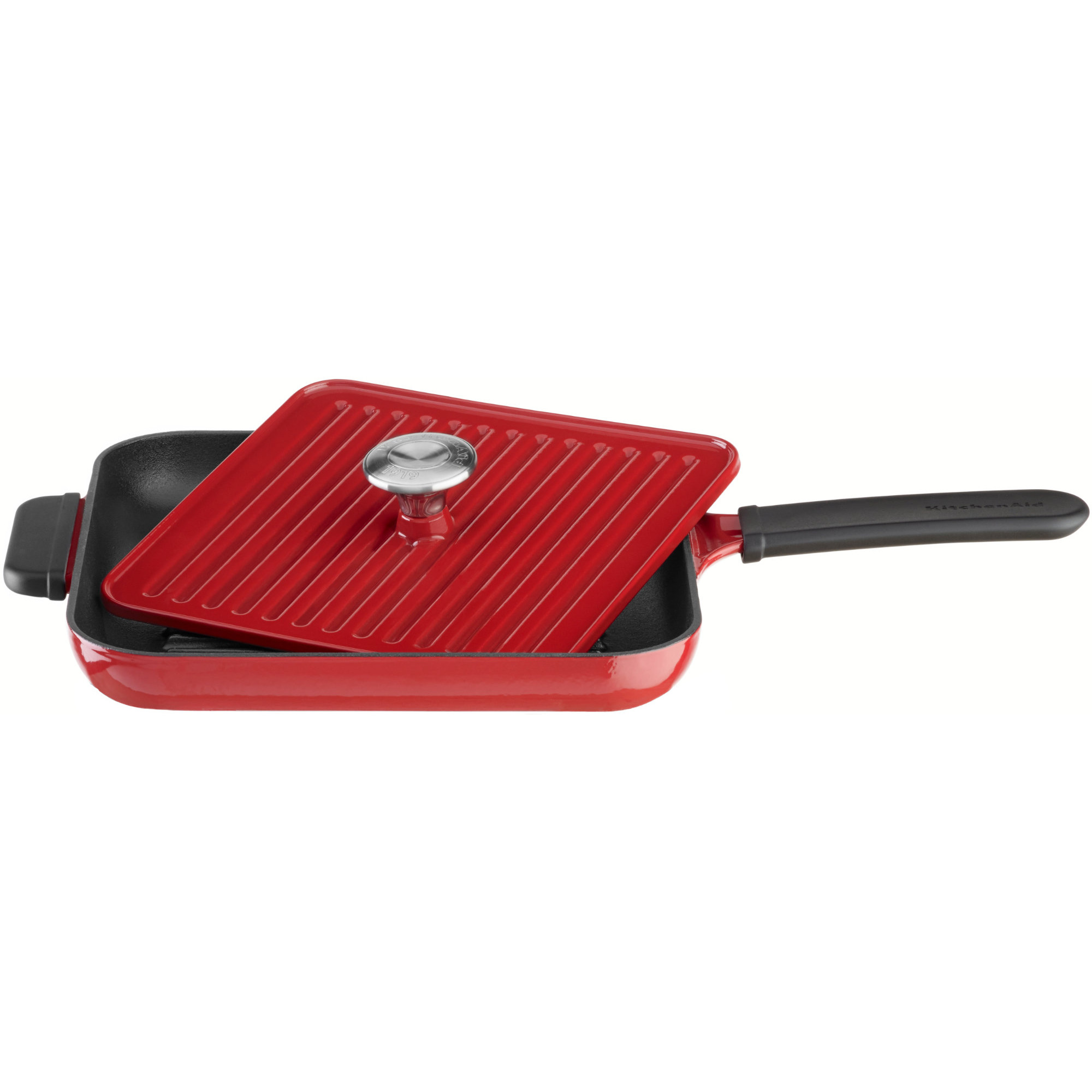 KitchenAid Grill och Panini Press 25×25 cm Röd