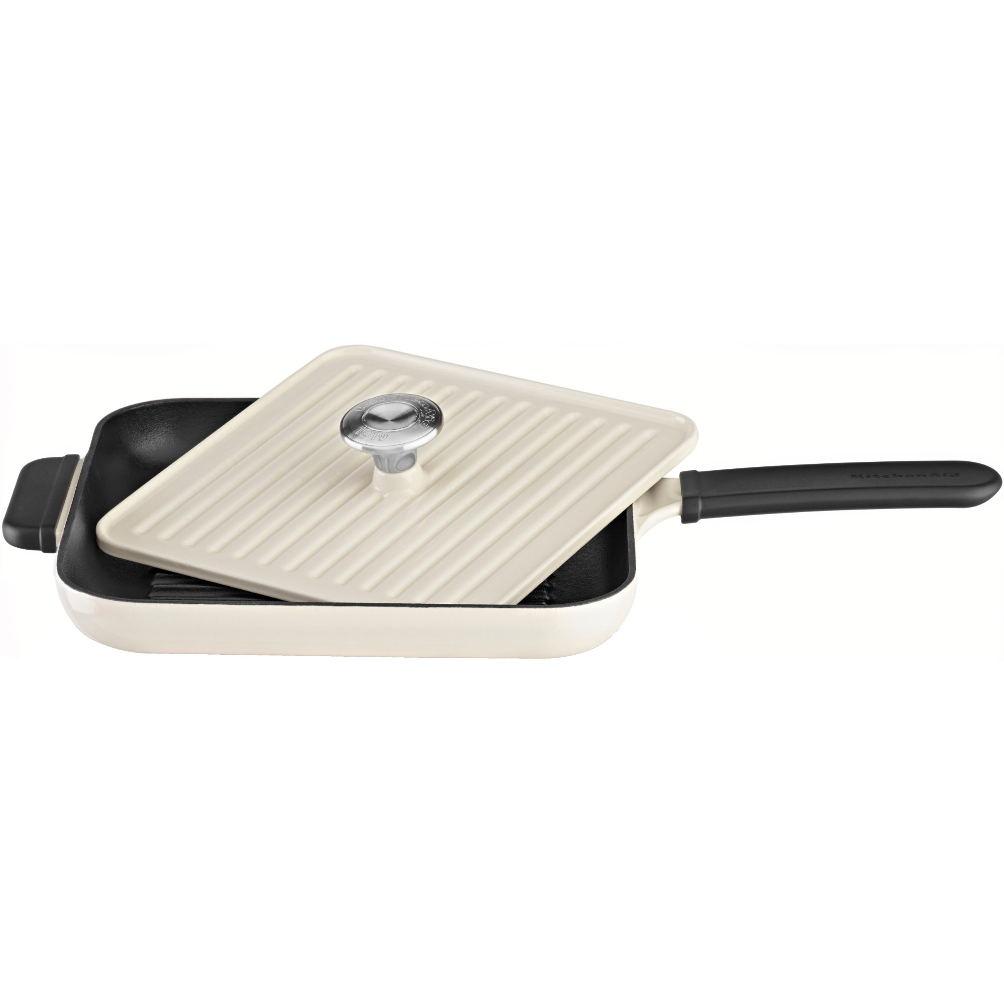 KitchenAid Grill och Panini Press 25×25 cm Creme