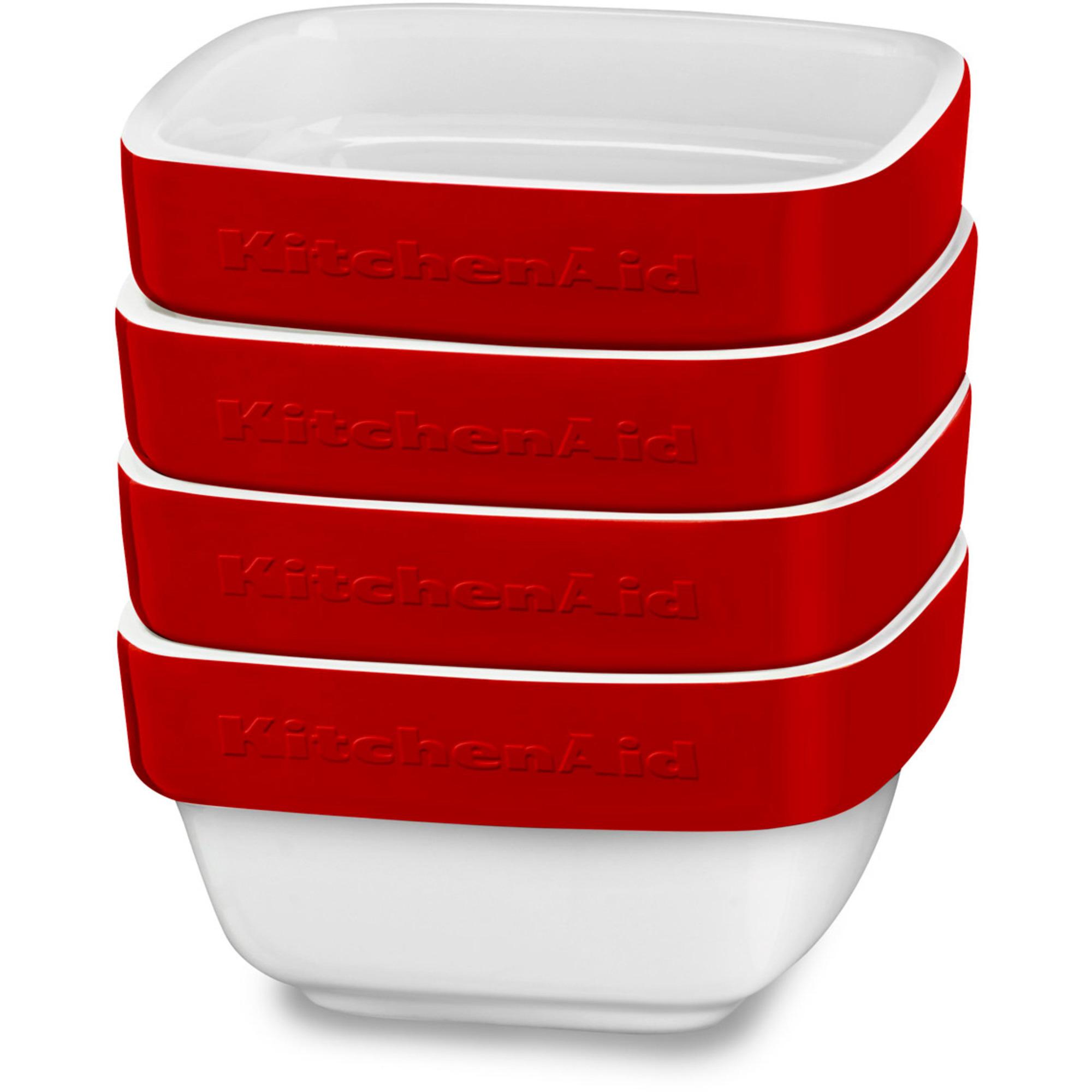 KitchenAid Ramekin 4 St 10x10x5 cm Röd