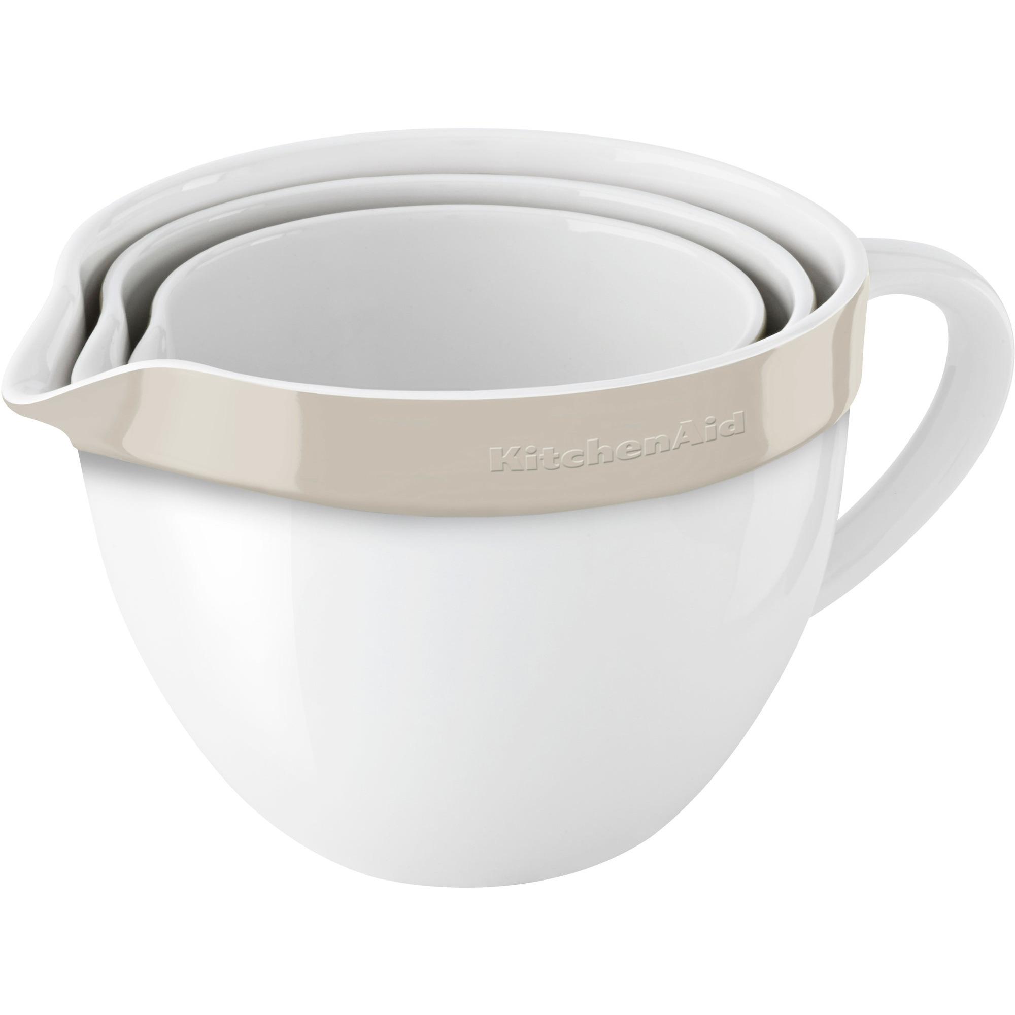 KitchenAid Skålset Keramik Vit/Creme