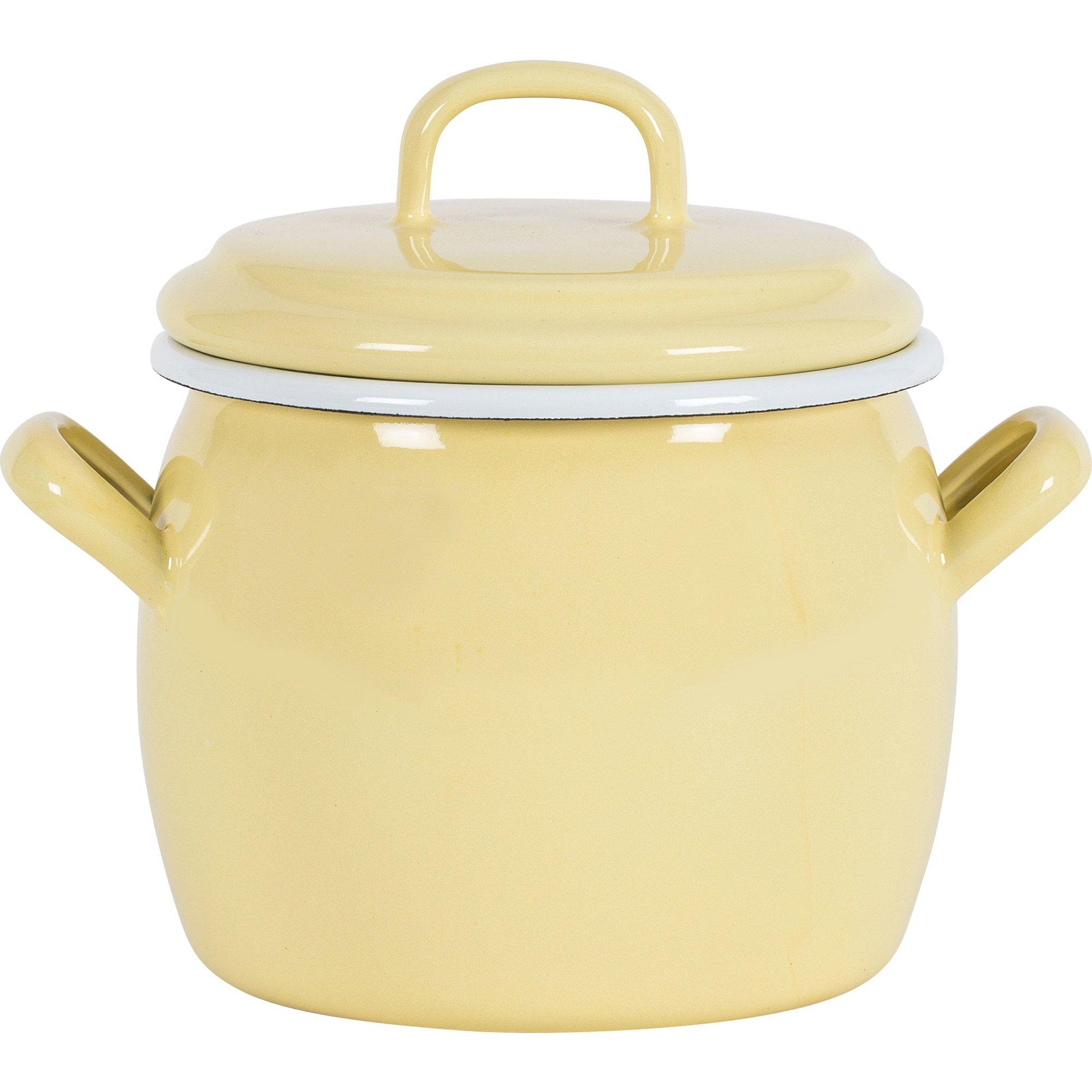 Kockums Jernverk Gryta 0,7 liter, gul