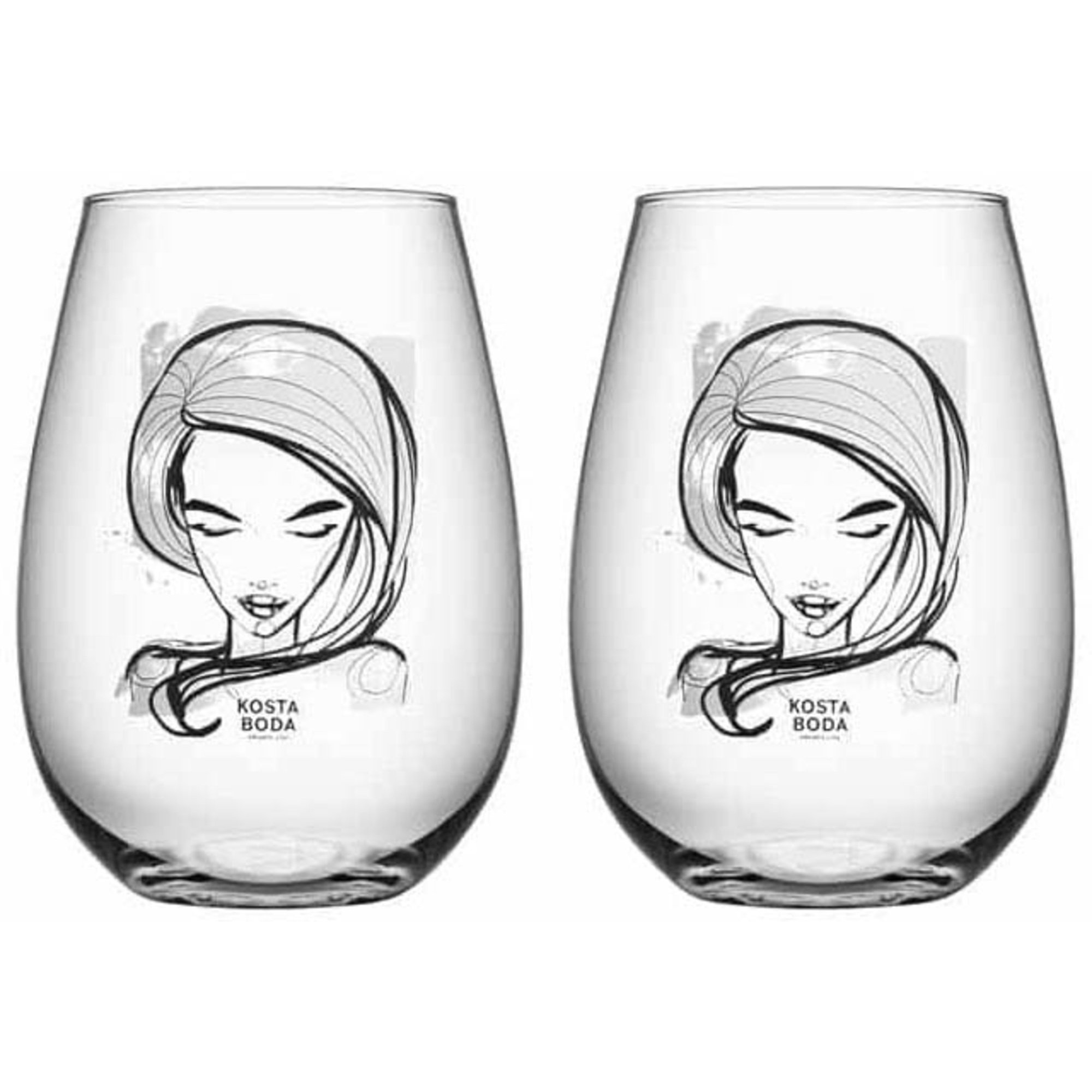 Kosta Boda All About You Tumblerglas 2 Pack 57 cl