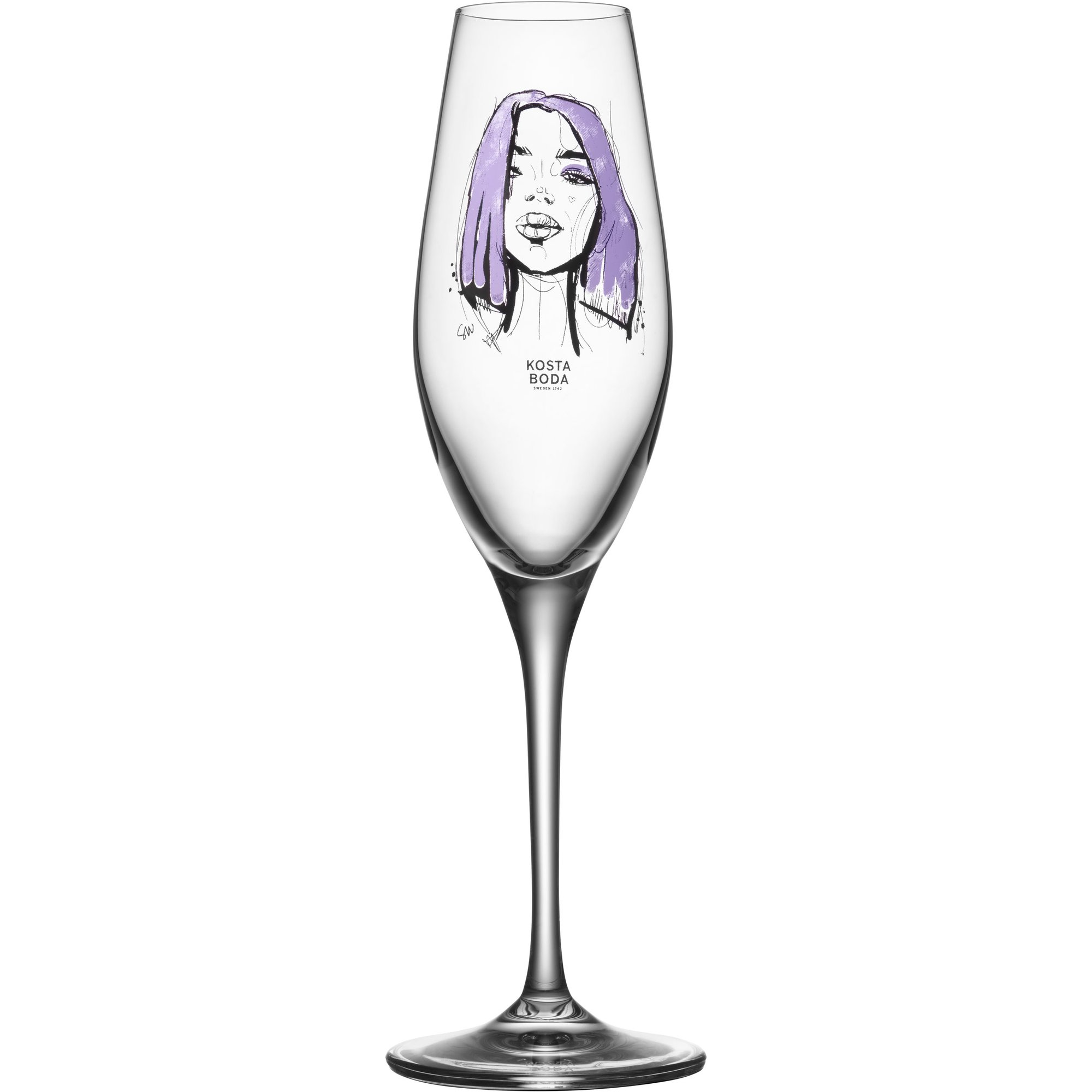 Kosta Boda All About You Forever Mine Champagneglas 2 st.