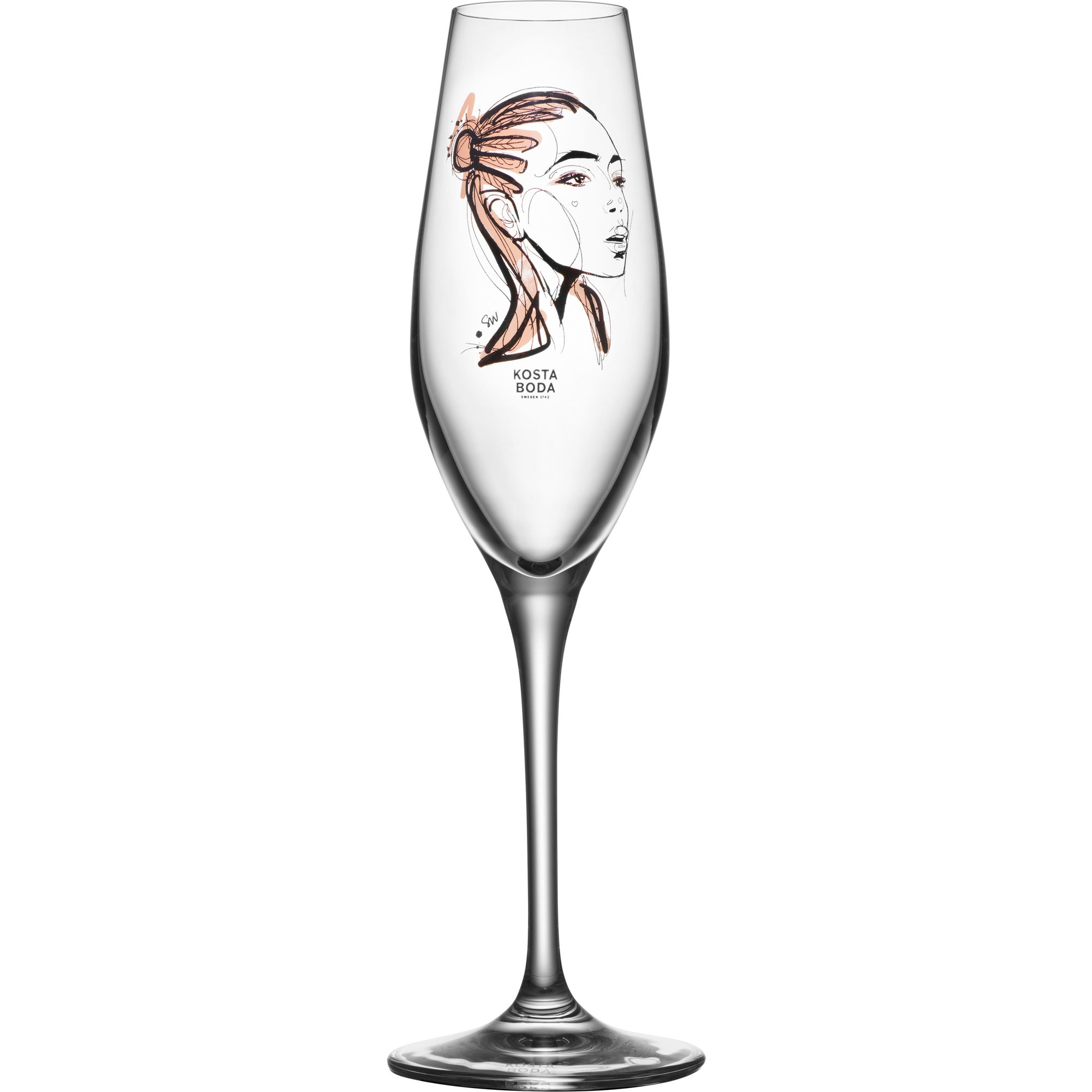 Kosta Boda All About You Forever Yours Champagneglas 2 st.