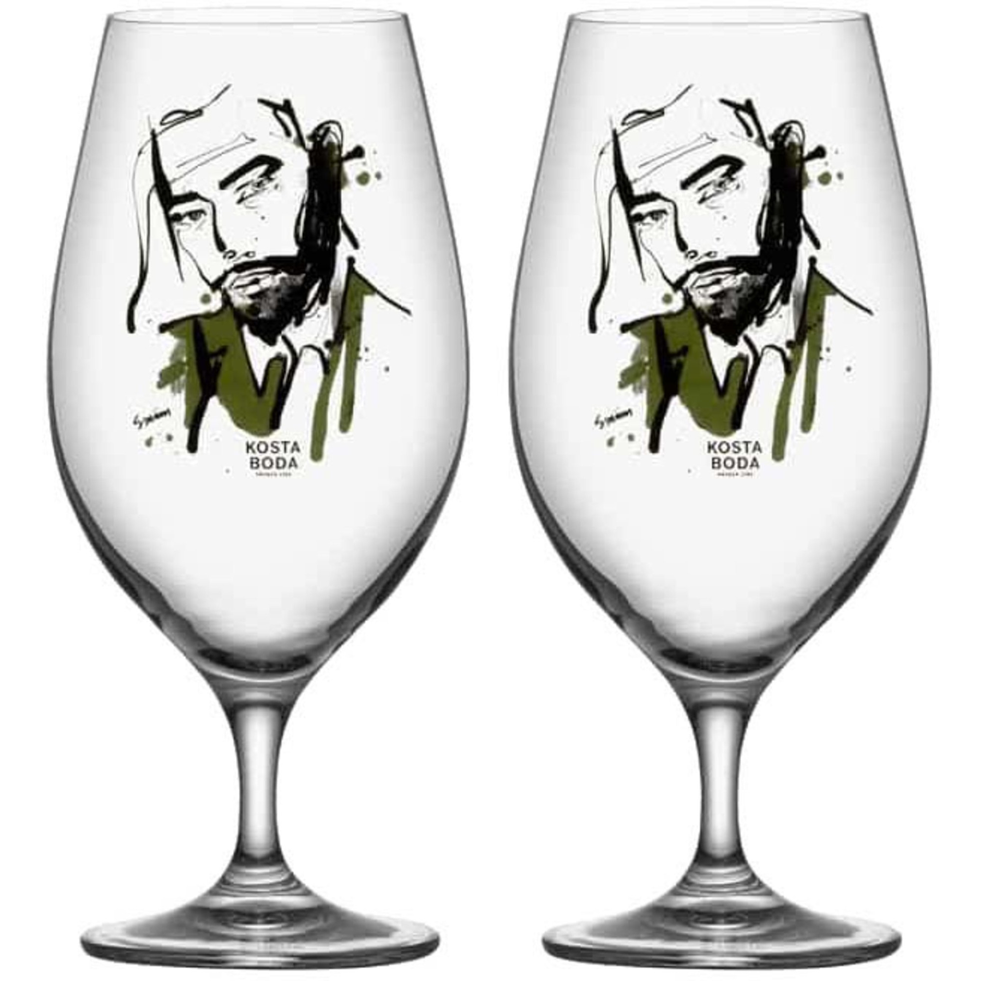Kosta Boda All About You Ölglas/ Want Him Grön 2-Pack