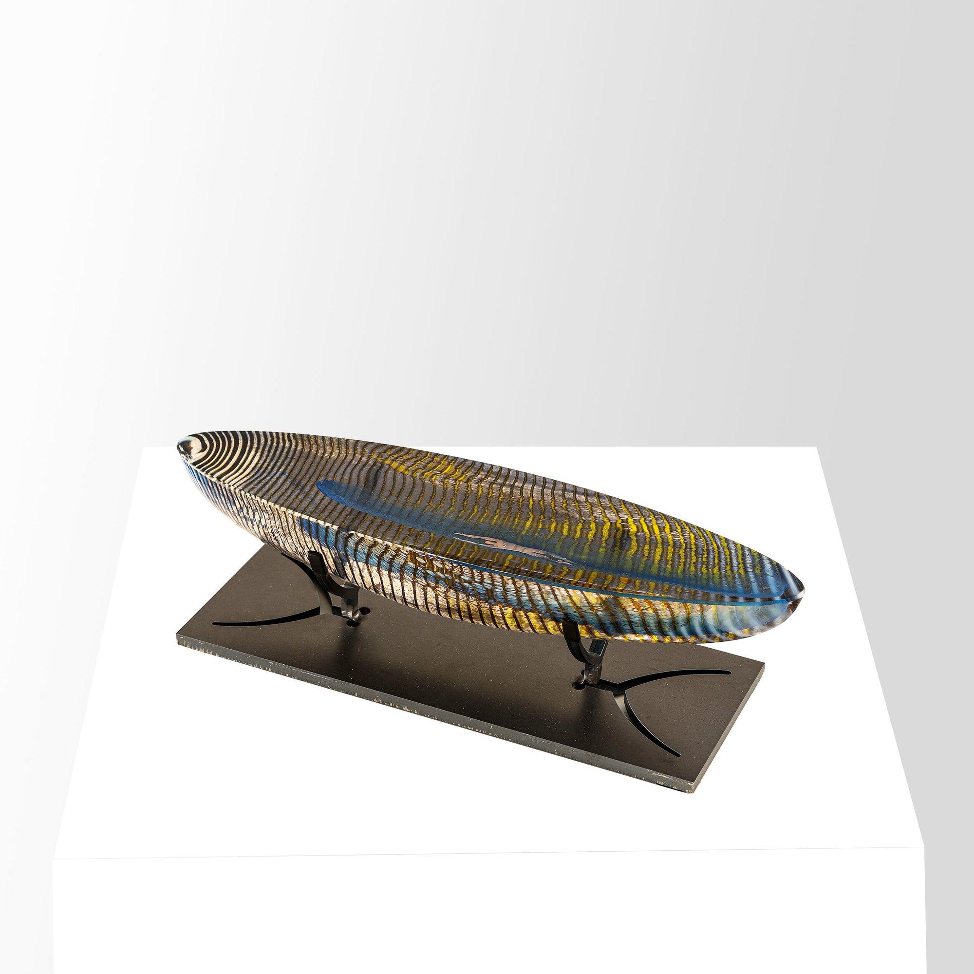 Kosta Boda Boat Caspar Skulptur 25 cm. Klar