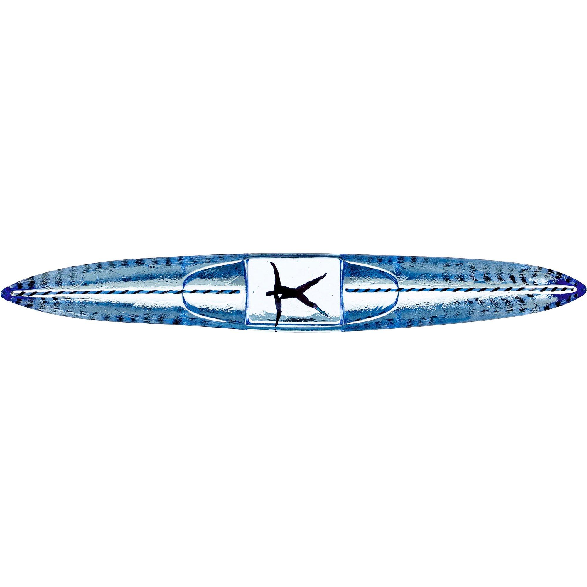 Kosta Boda Boat Drifter Skulptur 28 cm. Blå
