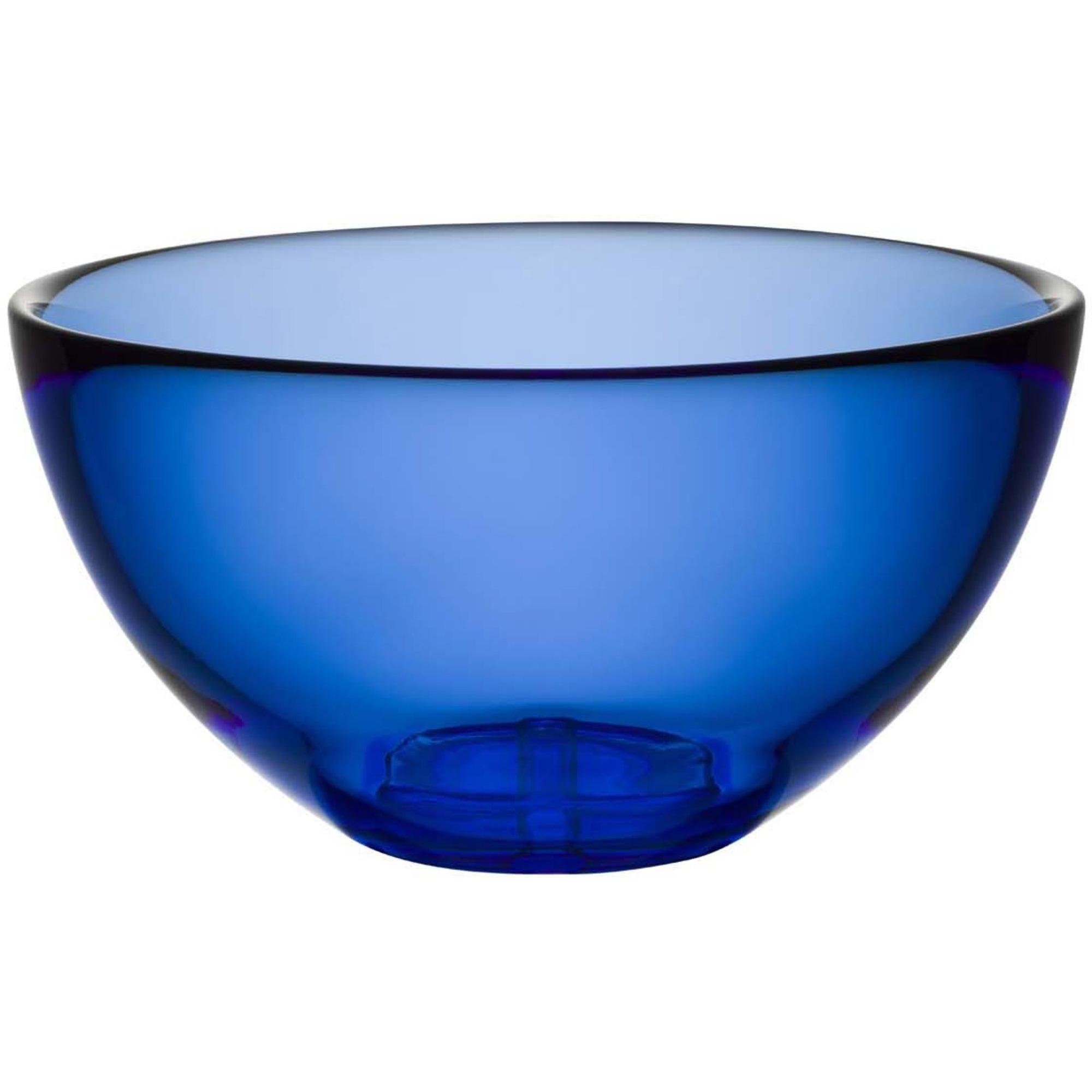 Kosta Boda Bruk Serveringsskål Water Blue Medium