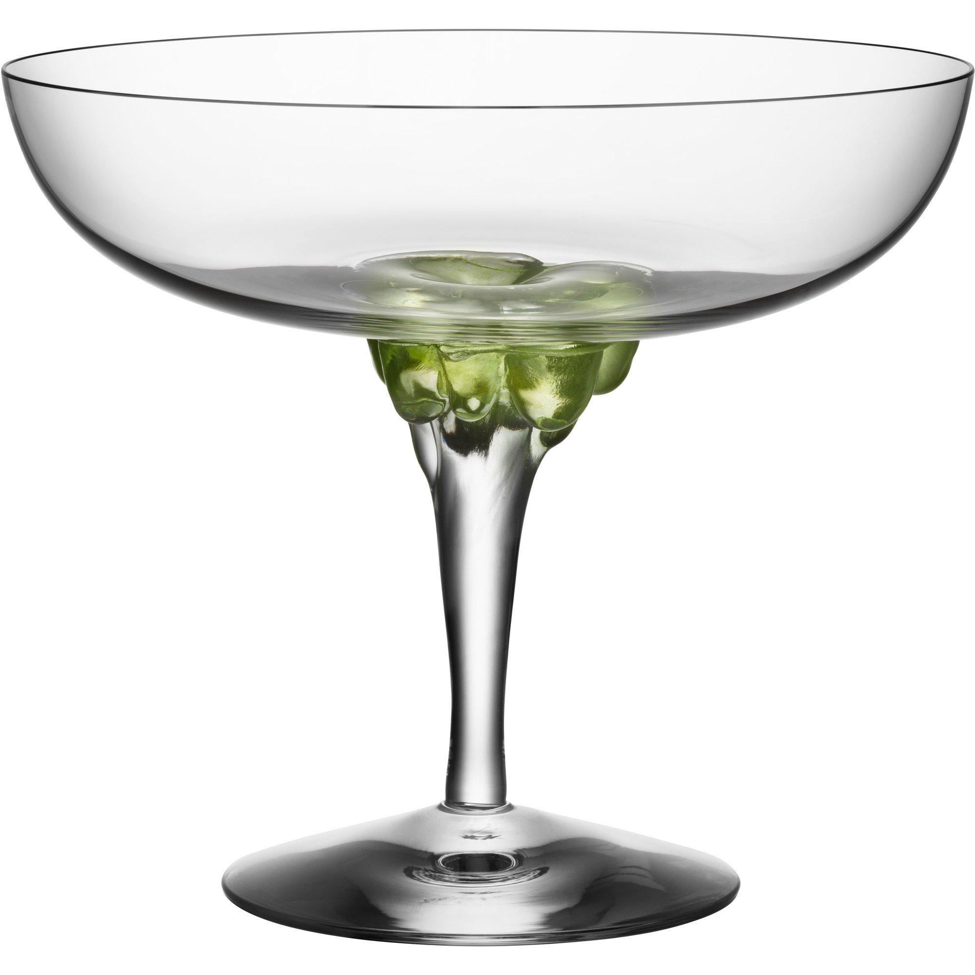 Kosta Boda Sugar Dandy Coupe Glas 32 cl. Grön