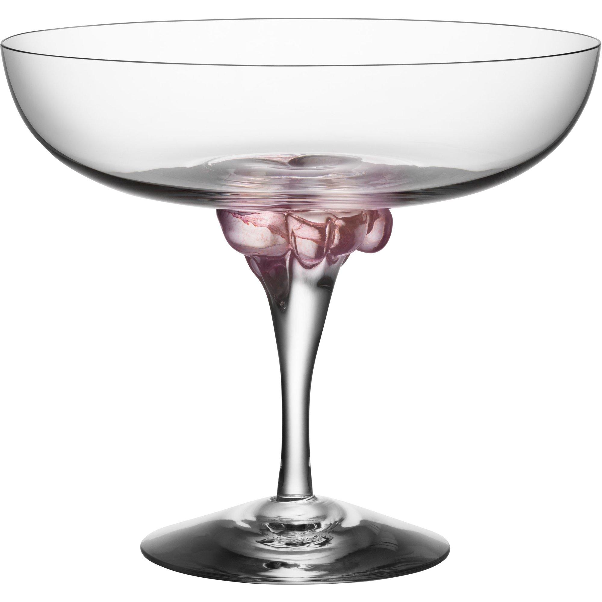 Kosta Boda Sugar Dandy Coupe Glas 32 cl. Rosa