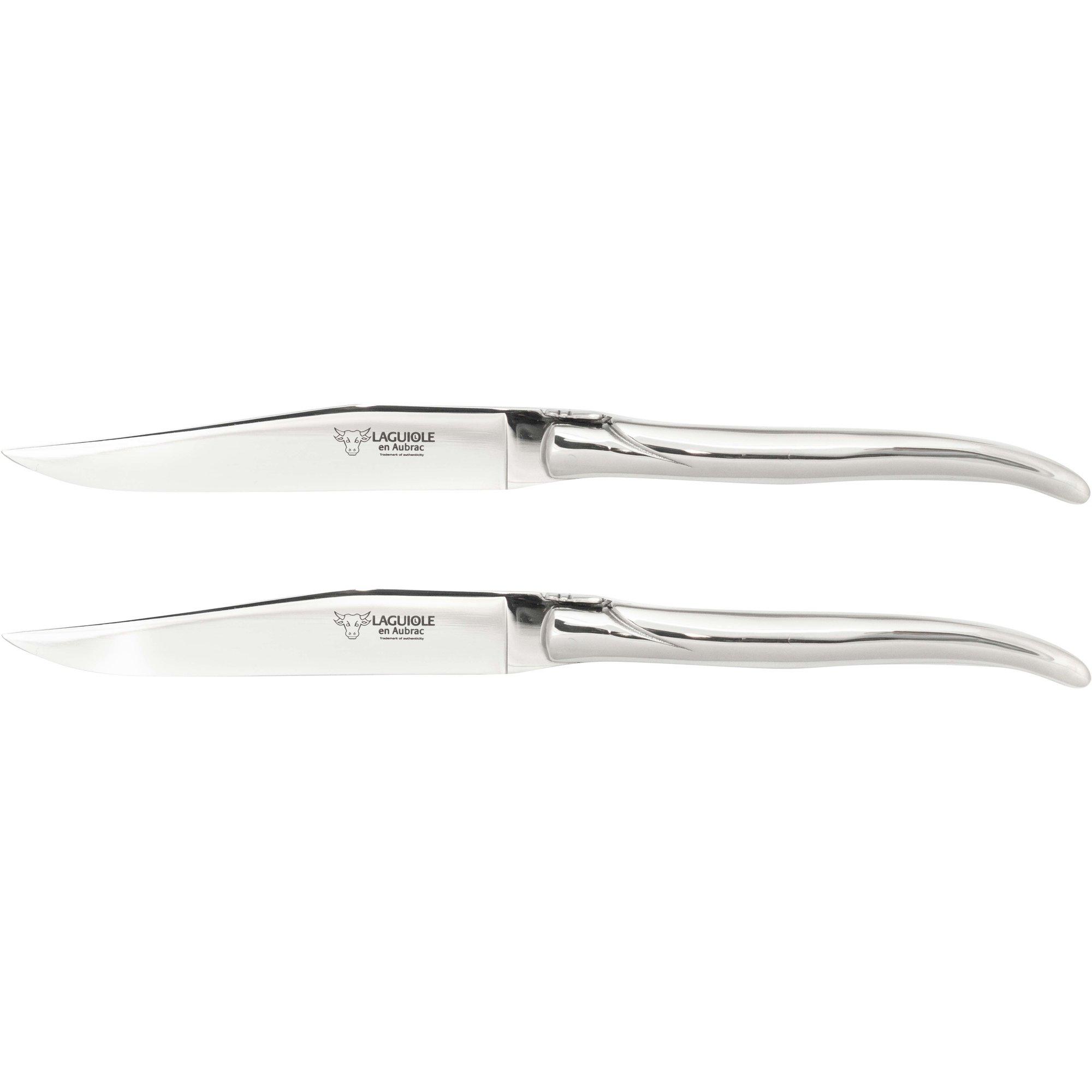 Laguiole Stekkniv 2 st blankt stål