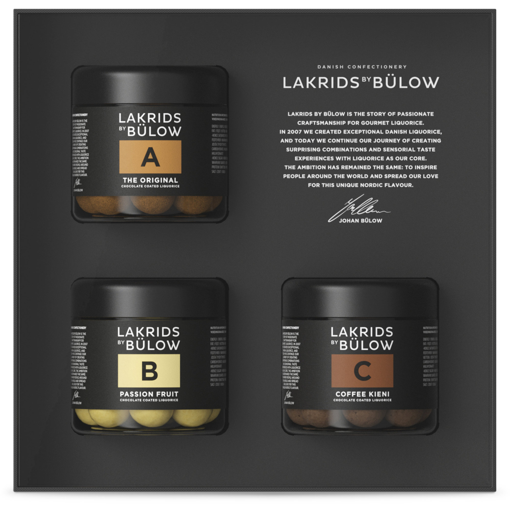 Lakrids by Bülow Black Box 3 x Small (A+B+C)