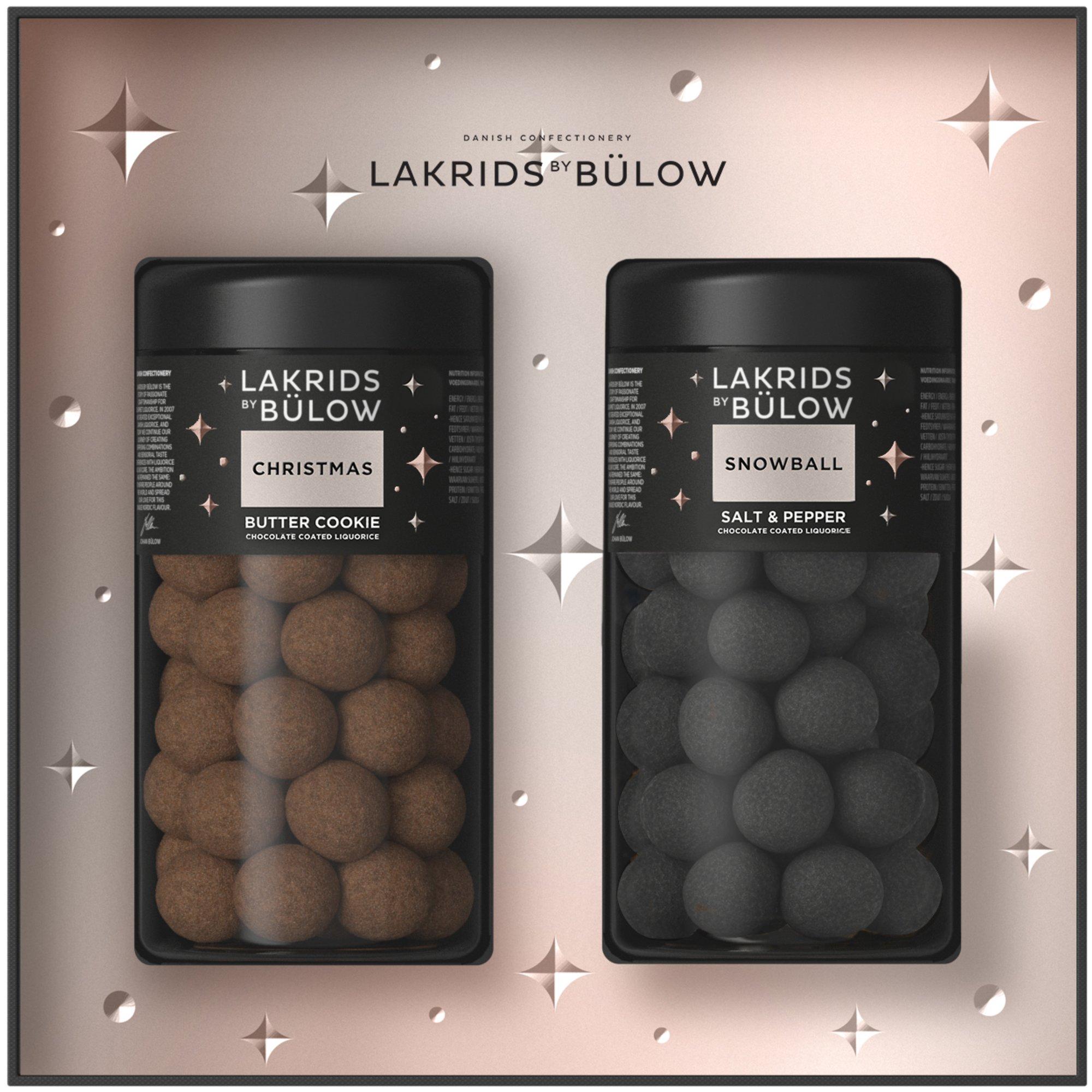 Lakrids by Bülow Black Box Christmas och Snowball stor