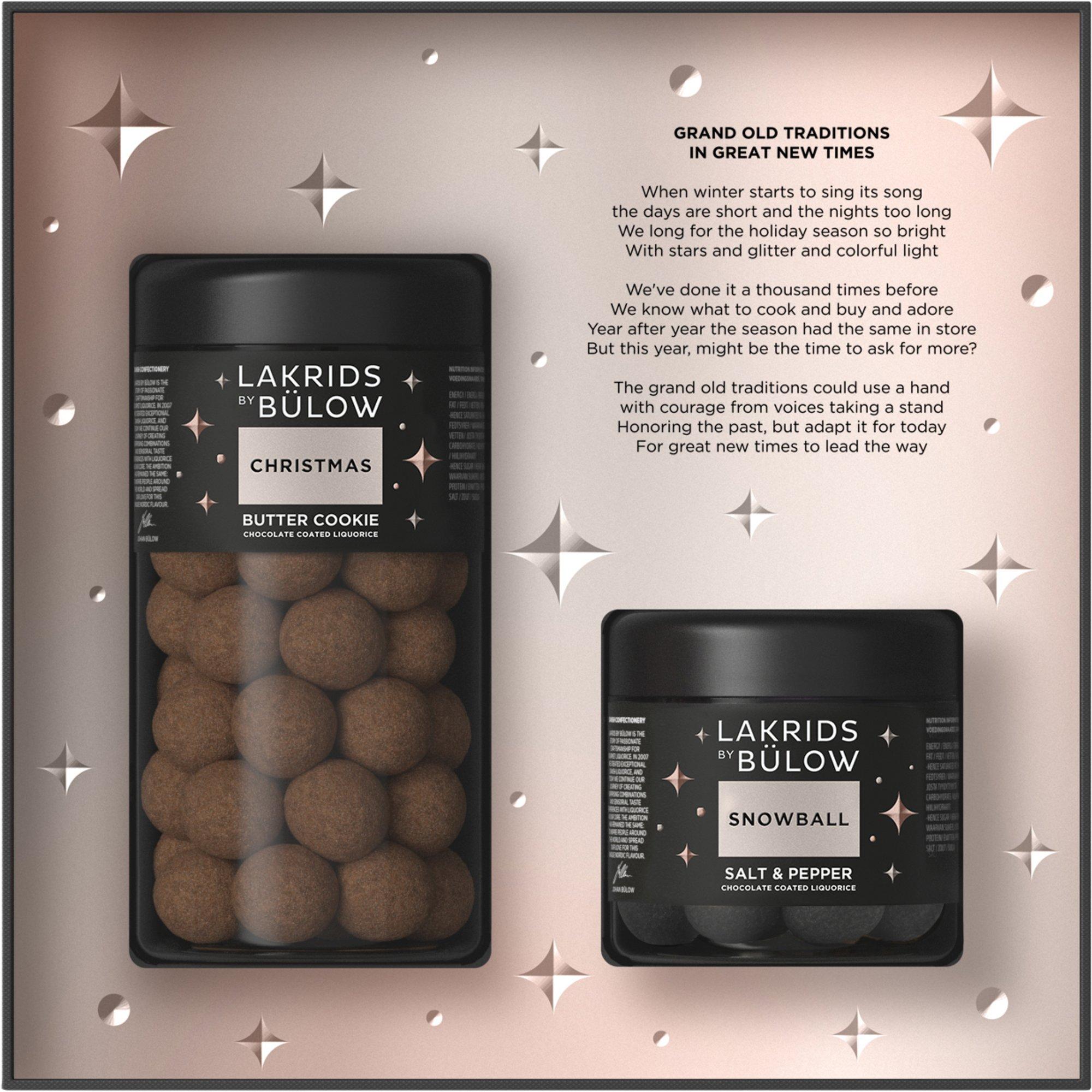 Lakrids by Bülow Black Box Christmas och Snowball stor/liten