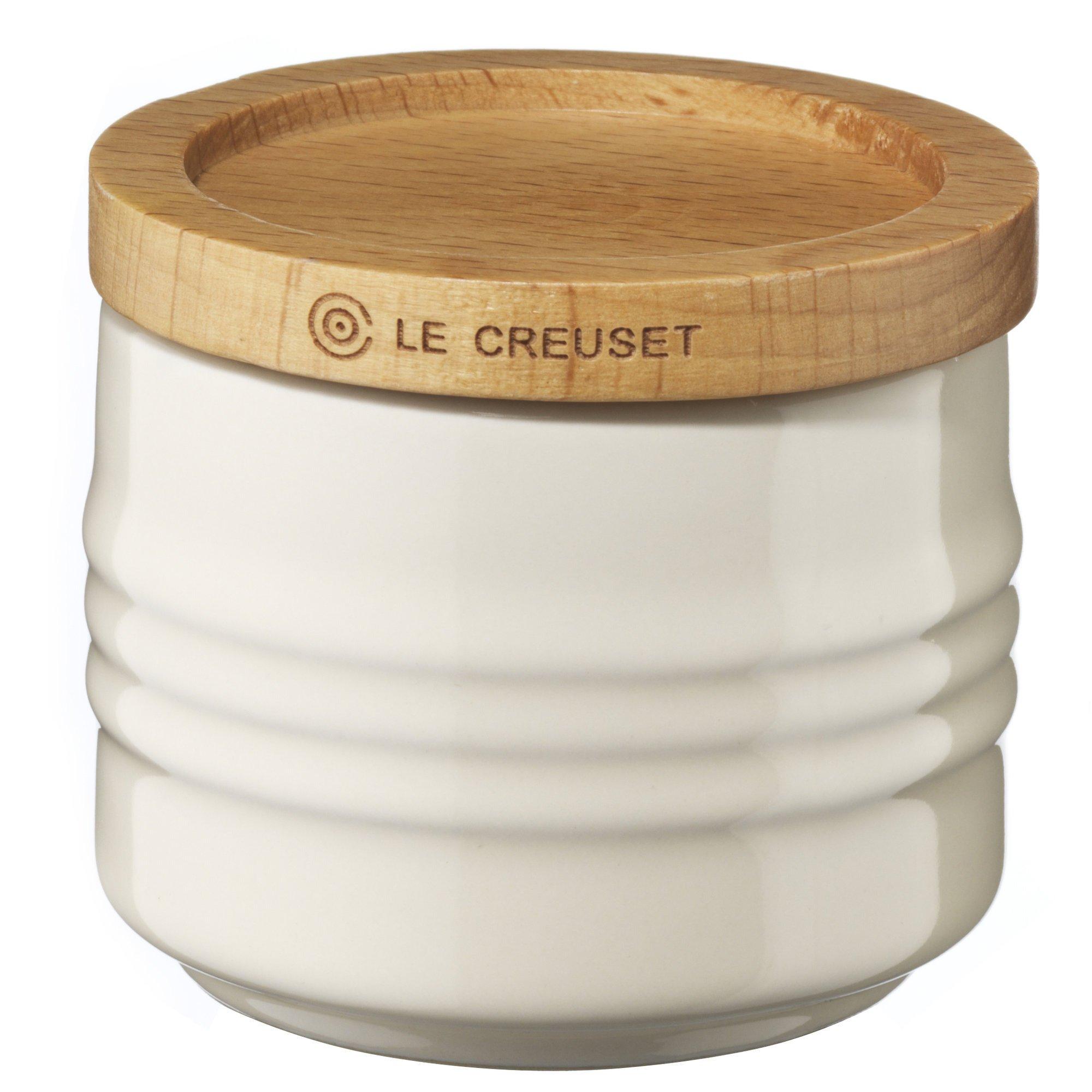 Le Creuset Liten kruka med trälock 80 ml Creme