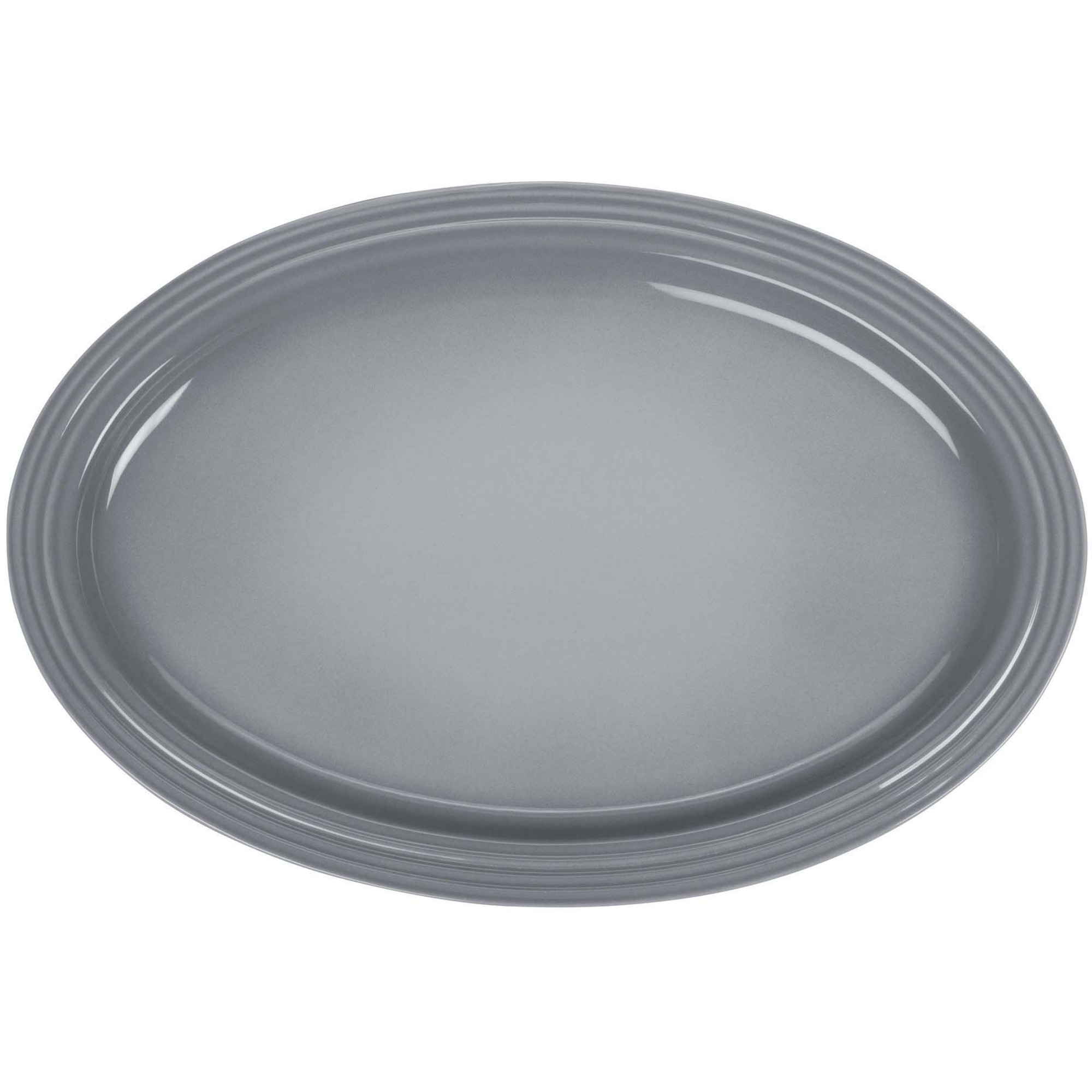 Le Creuset Signature Stort ovalt serveringsfat 46cm Mist Gray