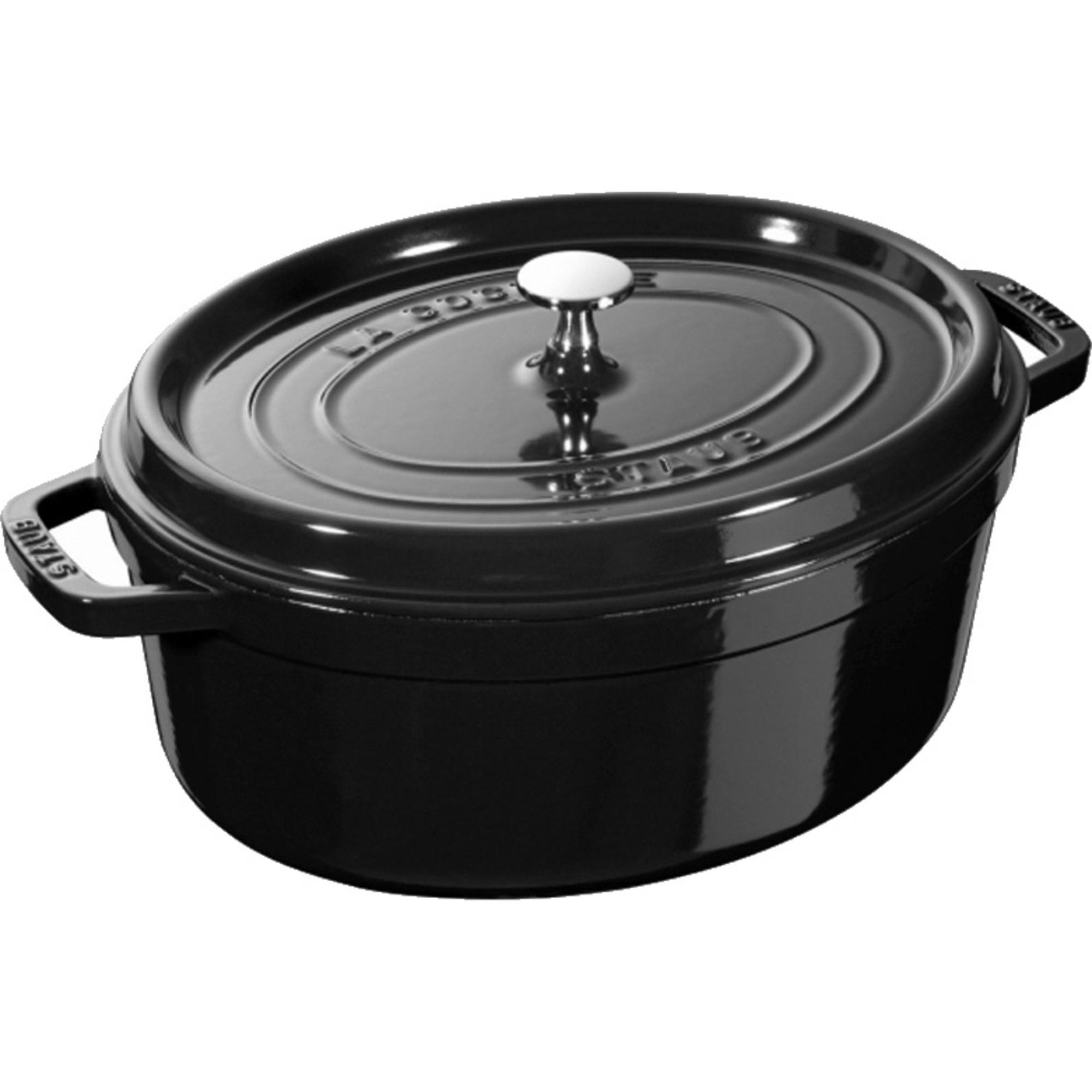 Staub Limited Edition Oval gryta 31 cm 54 liter Blank svart