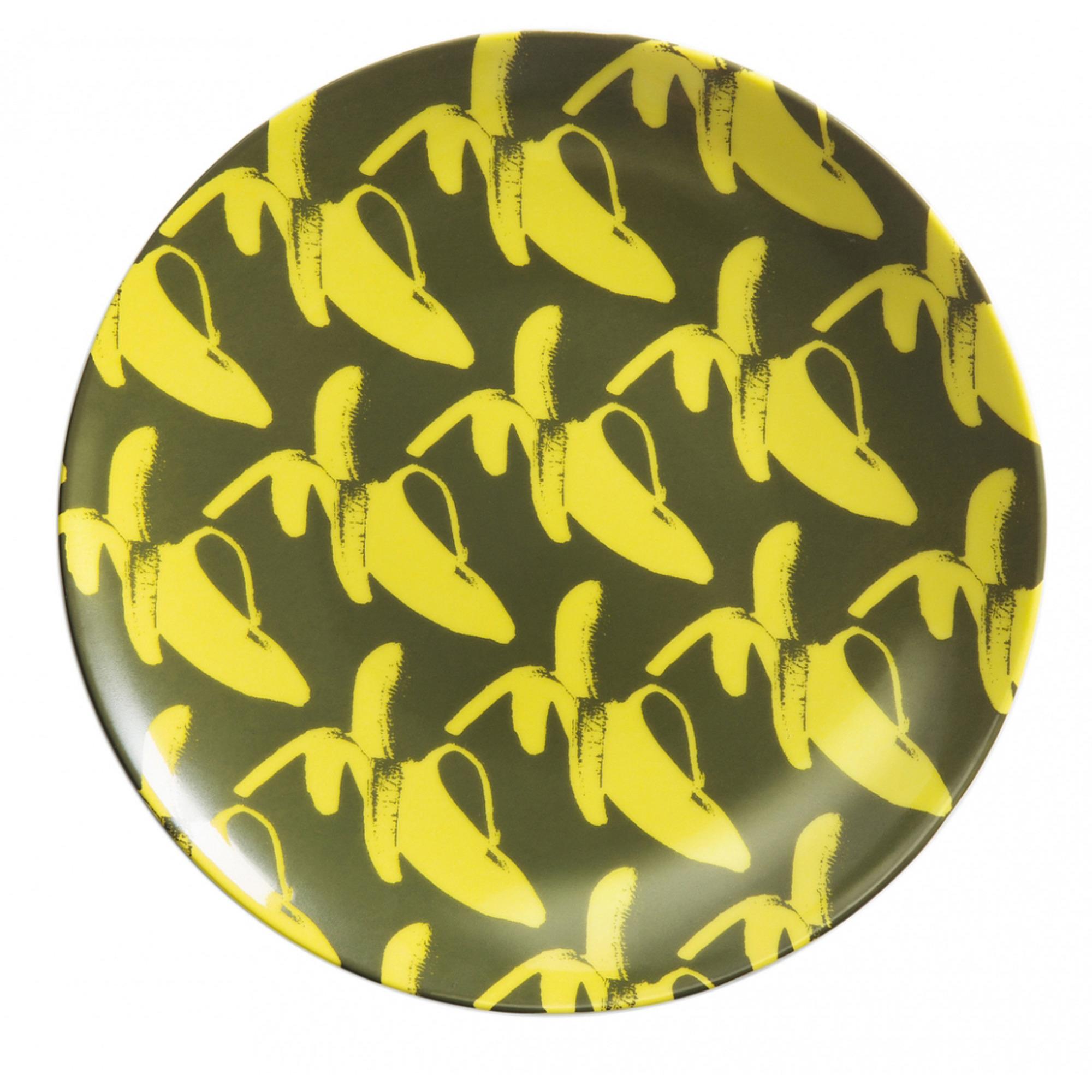Lisa Bengtsson Porslinstallrik 20 cm GO BANANAS! Yellow Fellow